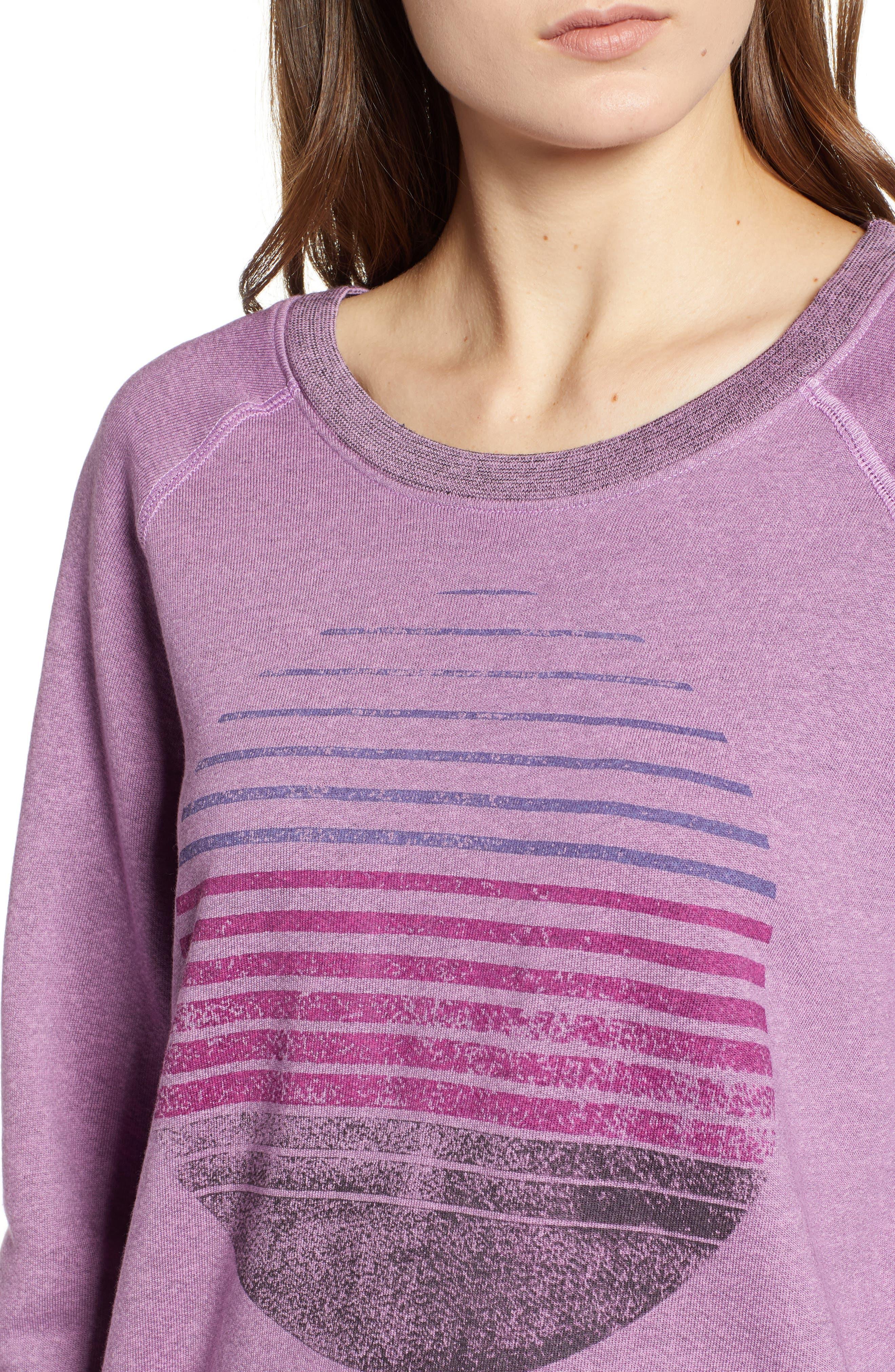 Faded Print Sweatshirt,                             Alternate thumbnail 4, color,                             525