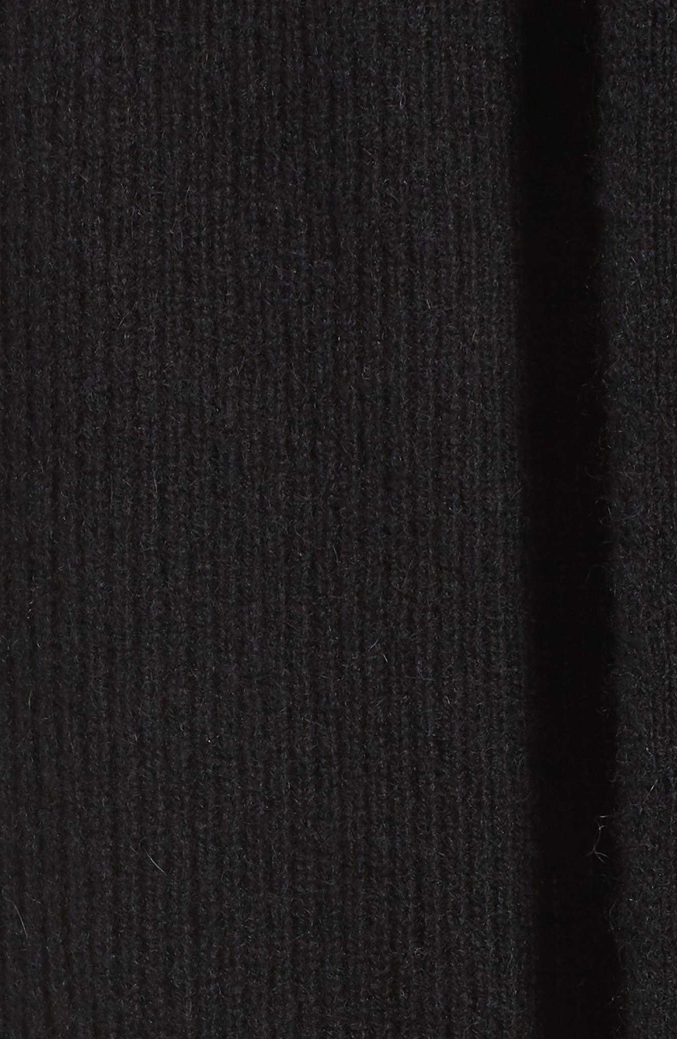 Ribbed Cashmere Vest,                             Alternate thumbnail 5, color,                             001