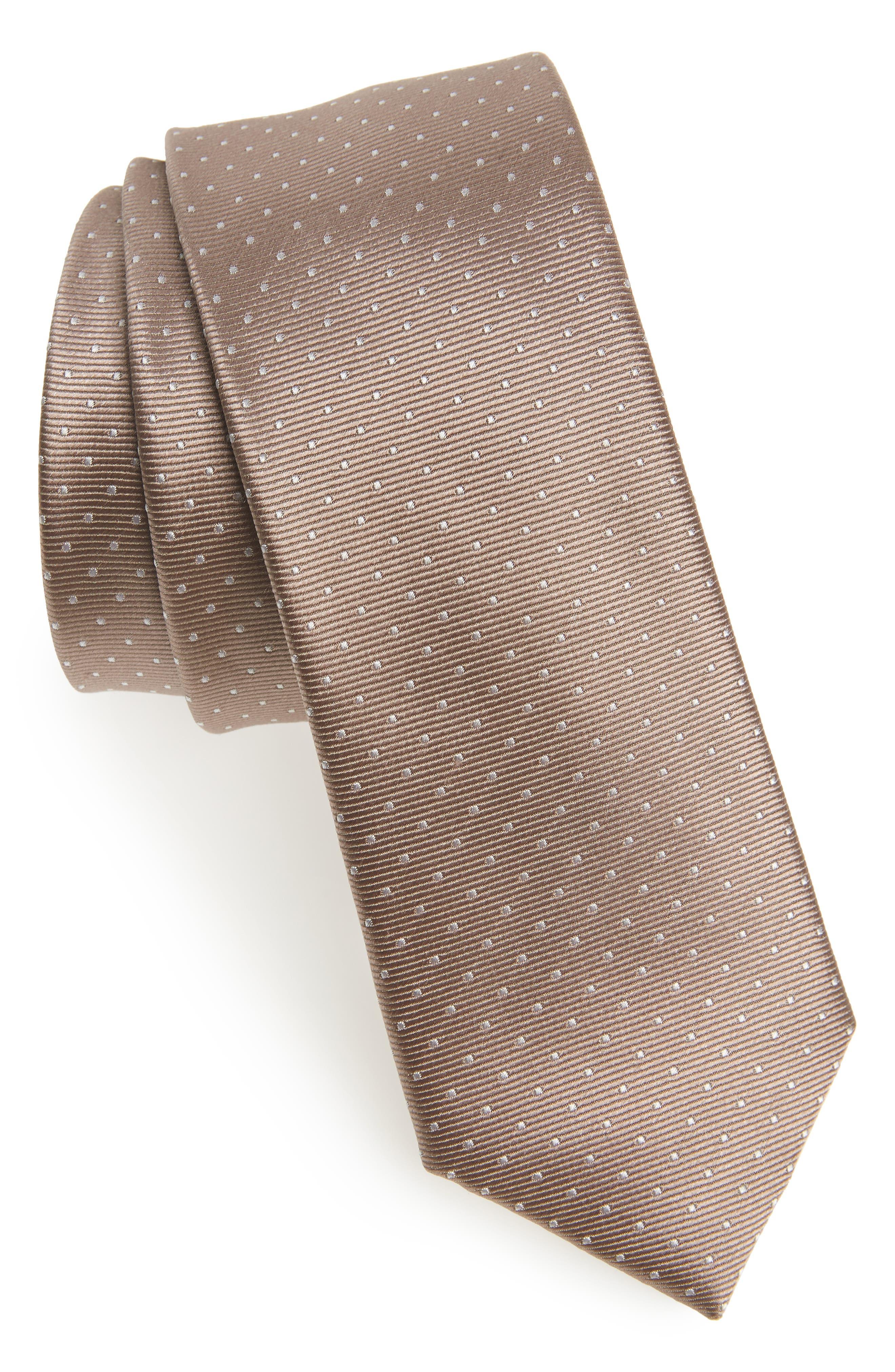Mini Dots Silk Tie,                             Main thumbnail 1, color,                             260