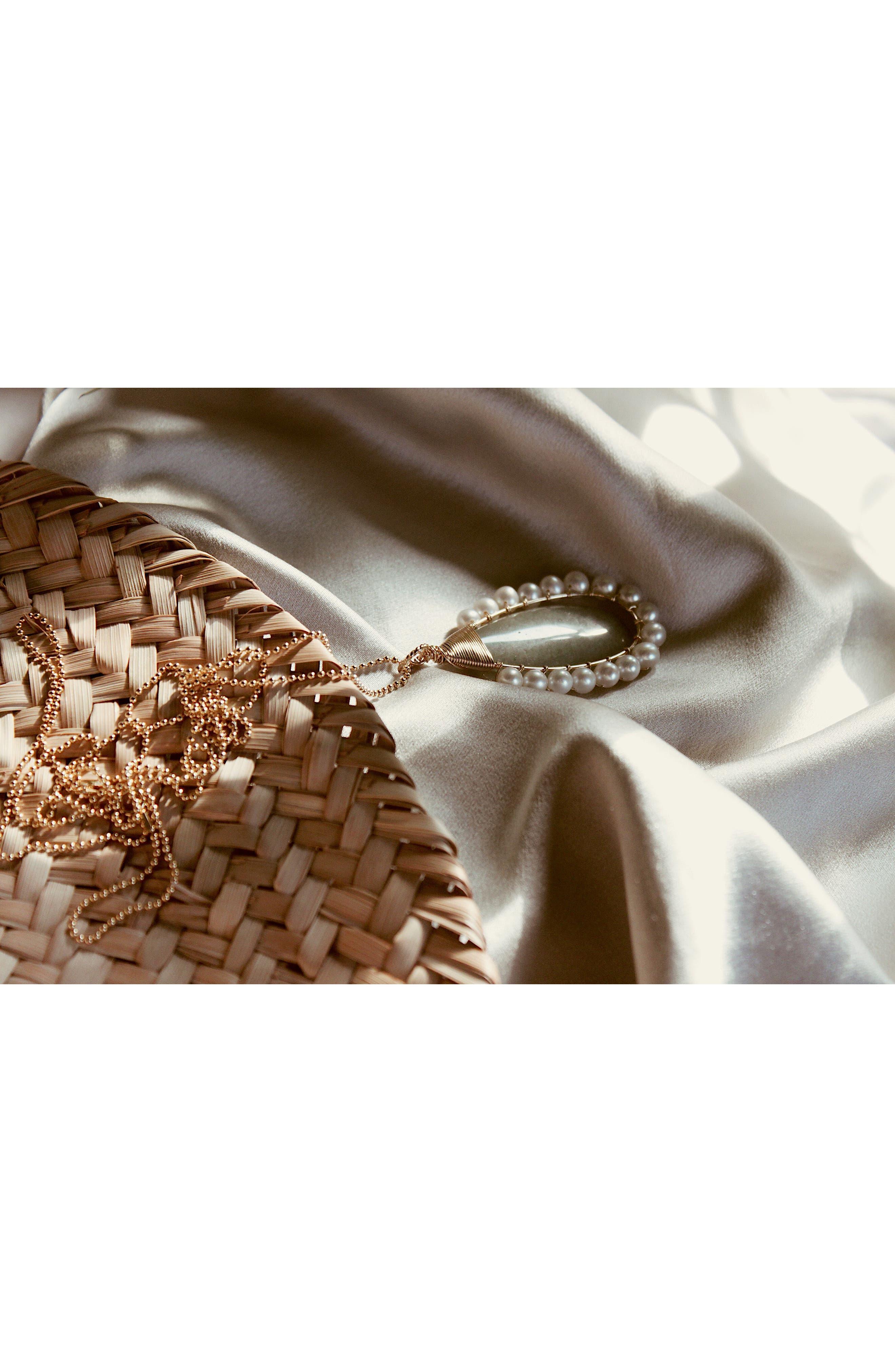 Lolita Green Aventurine & Freshwater Pearl Pendant Necklace,                             Alternate thumbnail 3, color,                             300