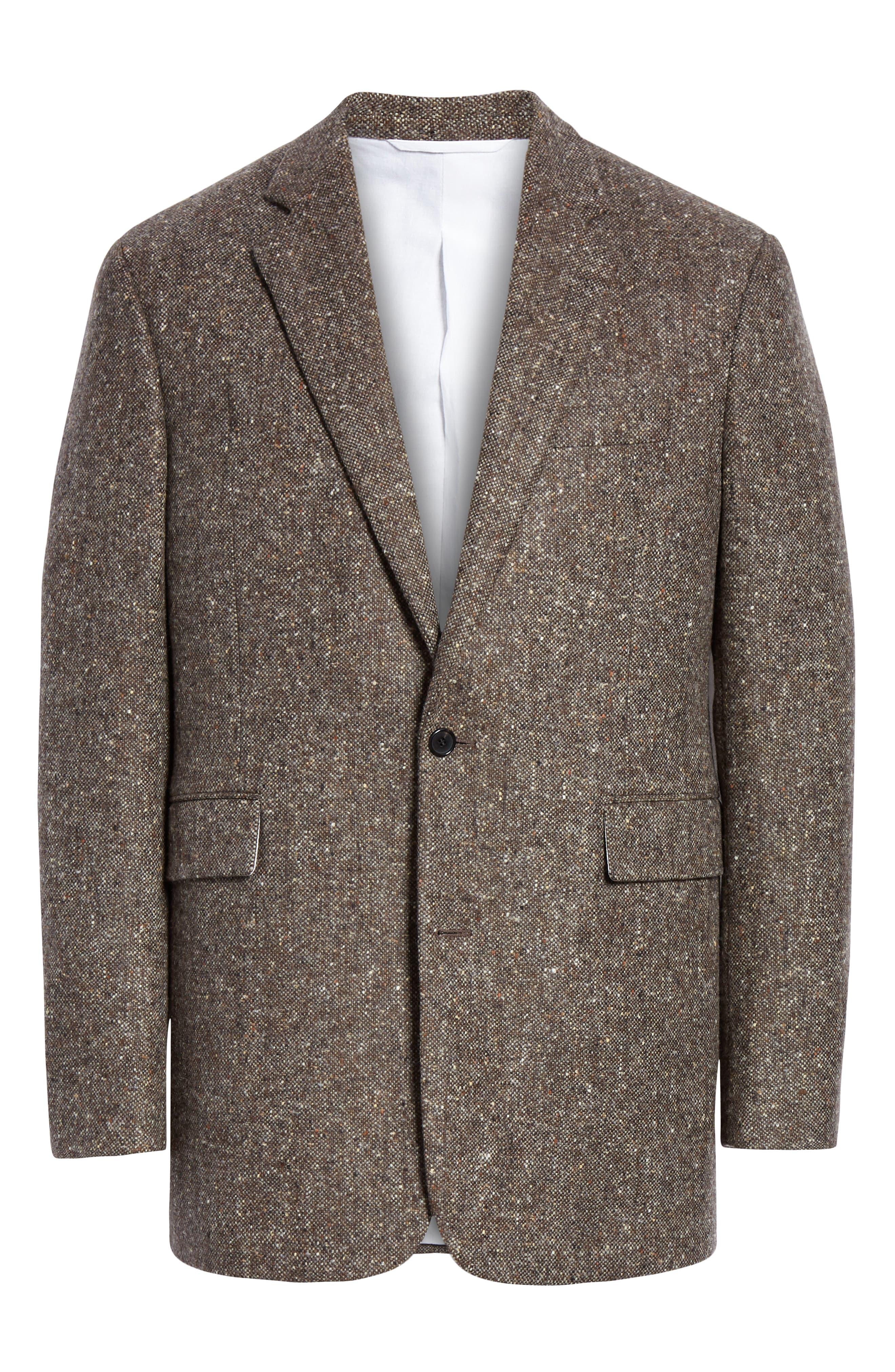 Tweed Wool Jacket,                             Alternate thumbnail 5, color,                             030