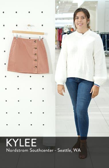 Horn Button Denim Miniskirt, sales video thumbnail