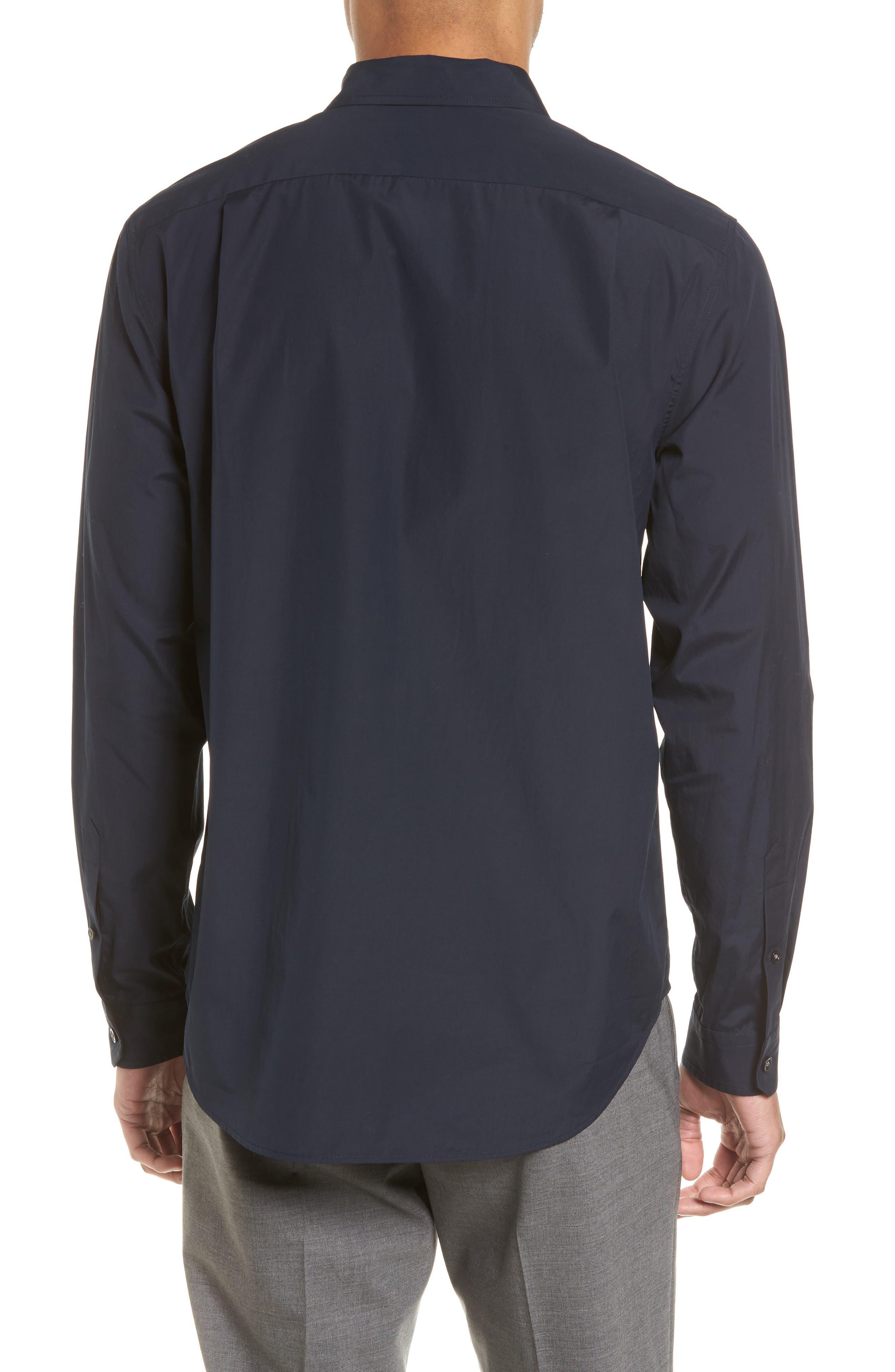Poplin Slim Fit Sport Shirt,                             Alternate thumbnail 2, color,                             400