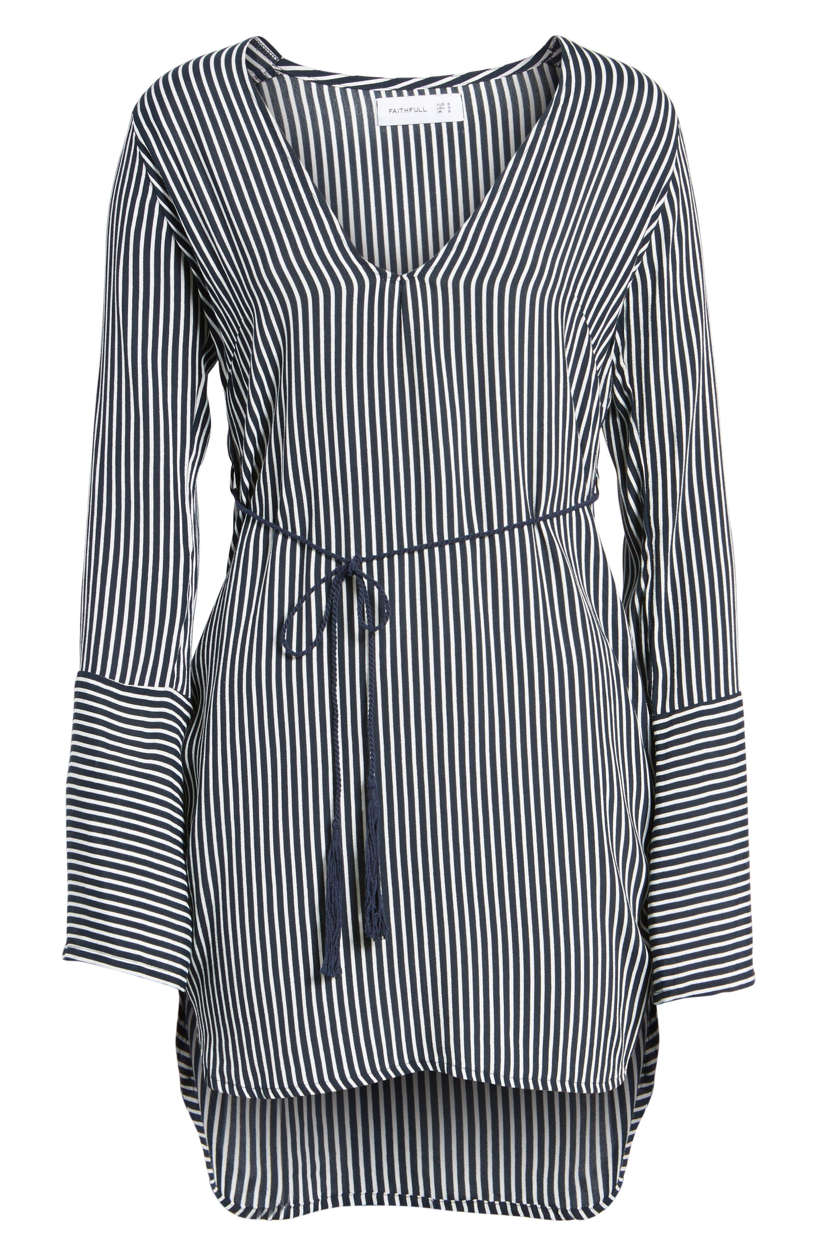 Neroli Stripe Dress,                             Alternate thumbnail 7, color,                             400