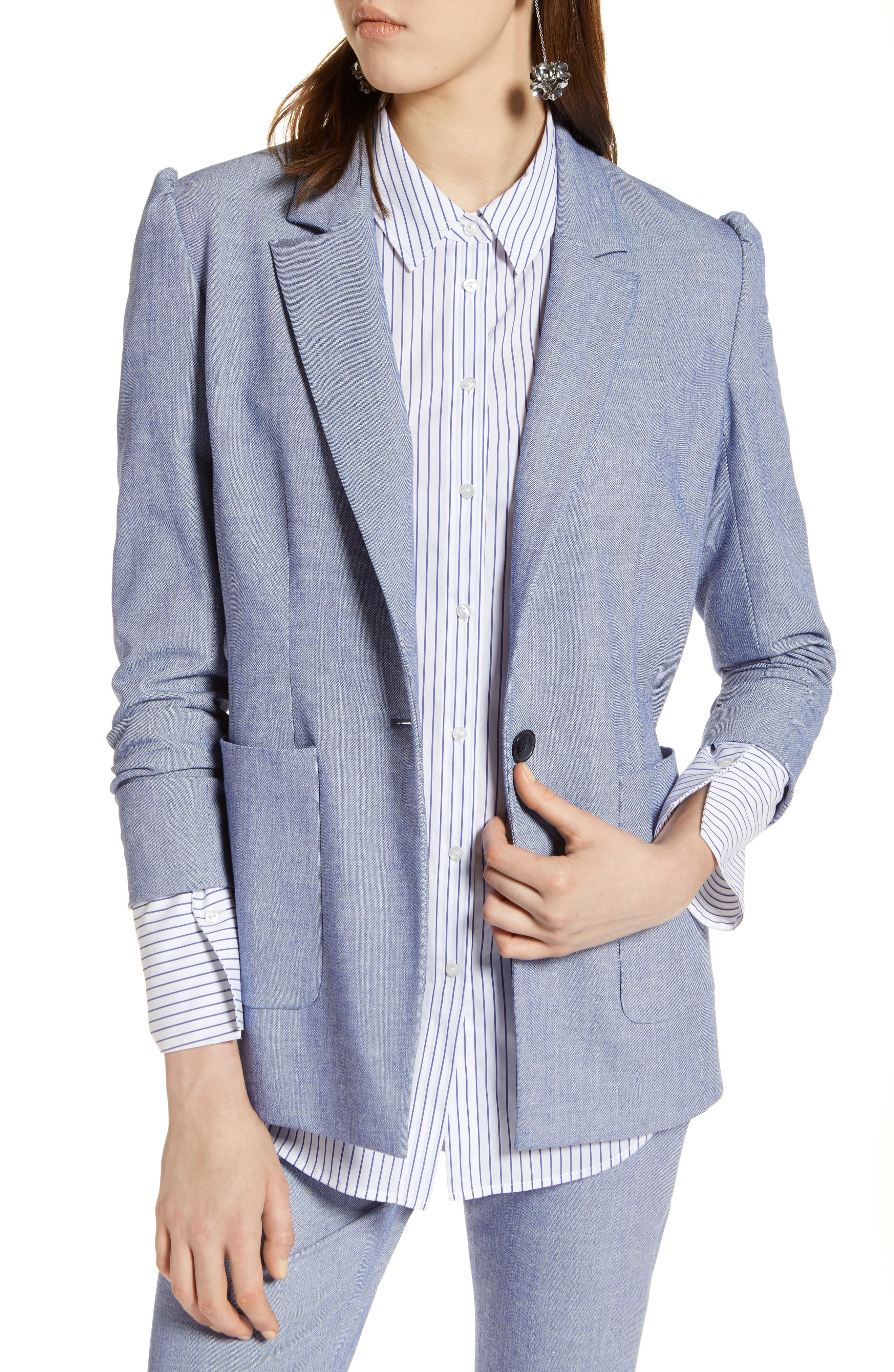 Stretch Woven Suit Blazer,                             Main thumbnail 1, color,                             400