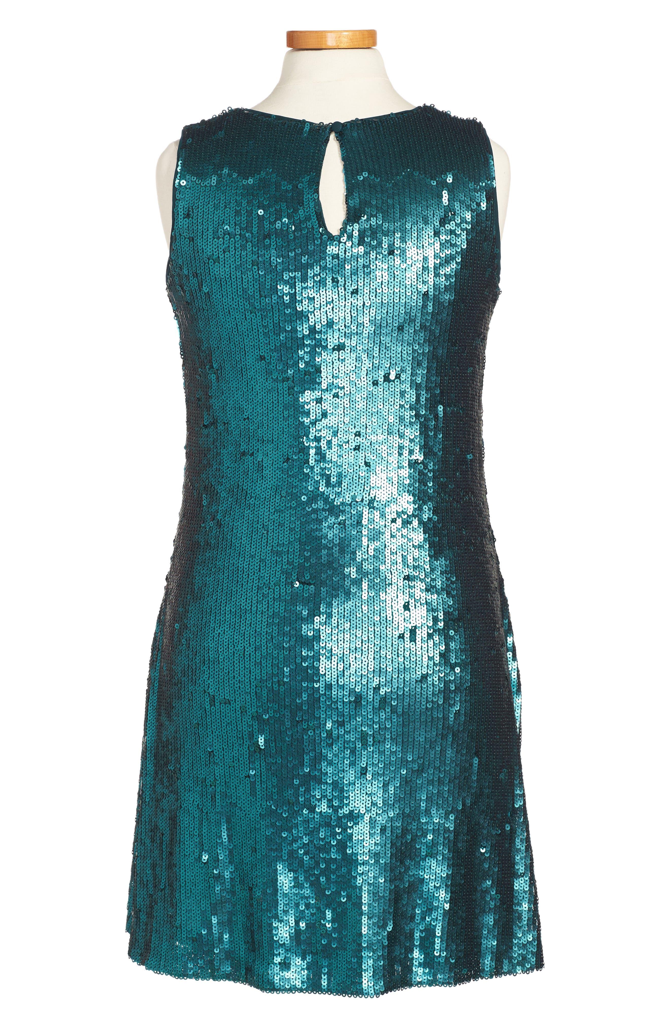 Sequin A-Line Dress,                             Alternate thumbnail 2, color,                             400