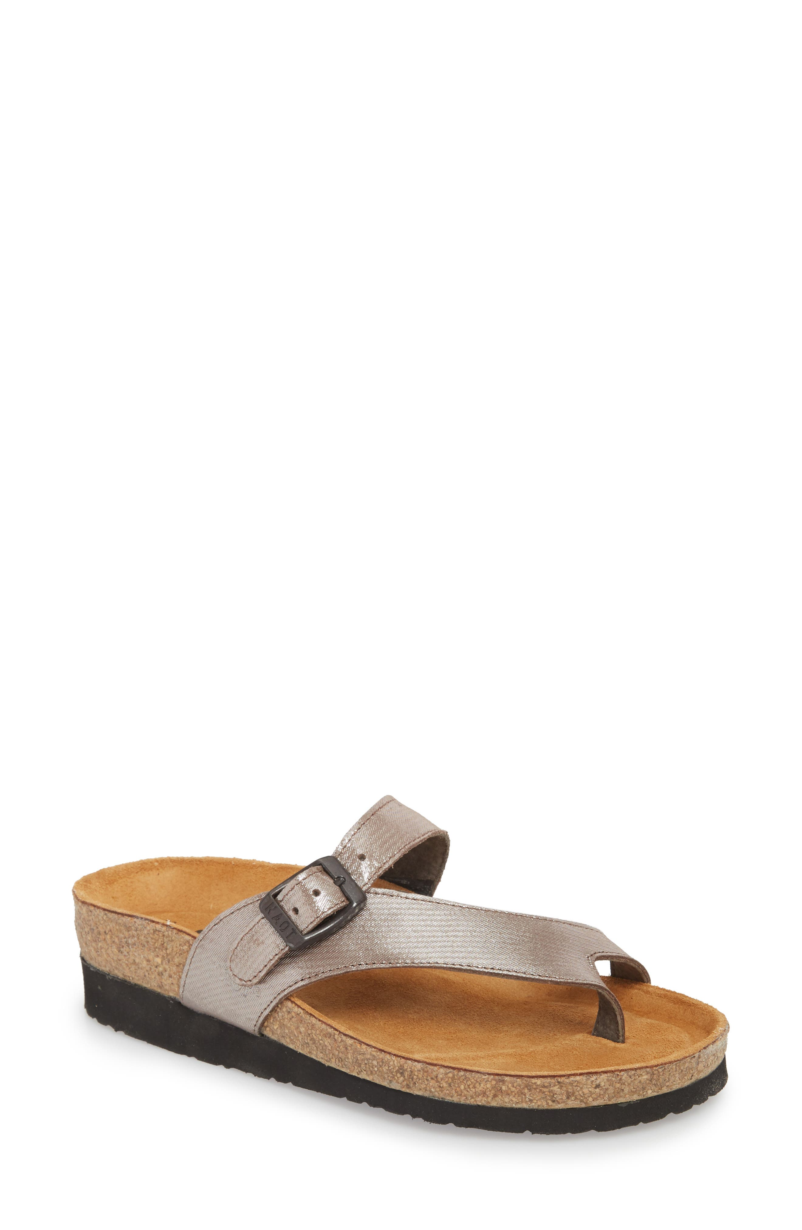 'Tahoe' Sandal,                         Main,                         color, SILVER LEATHER
