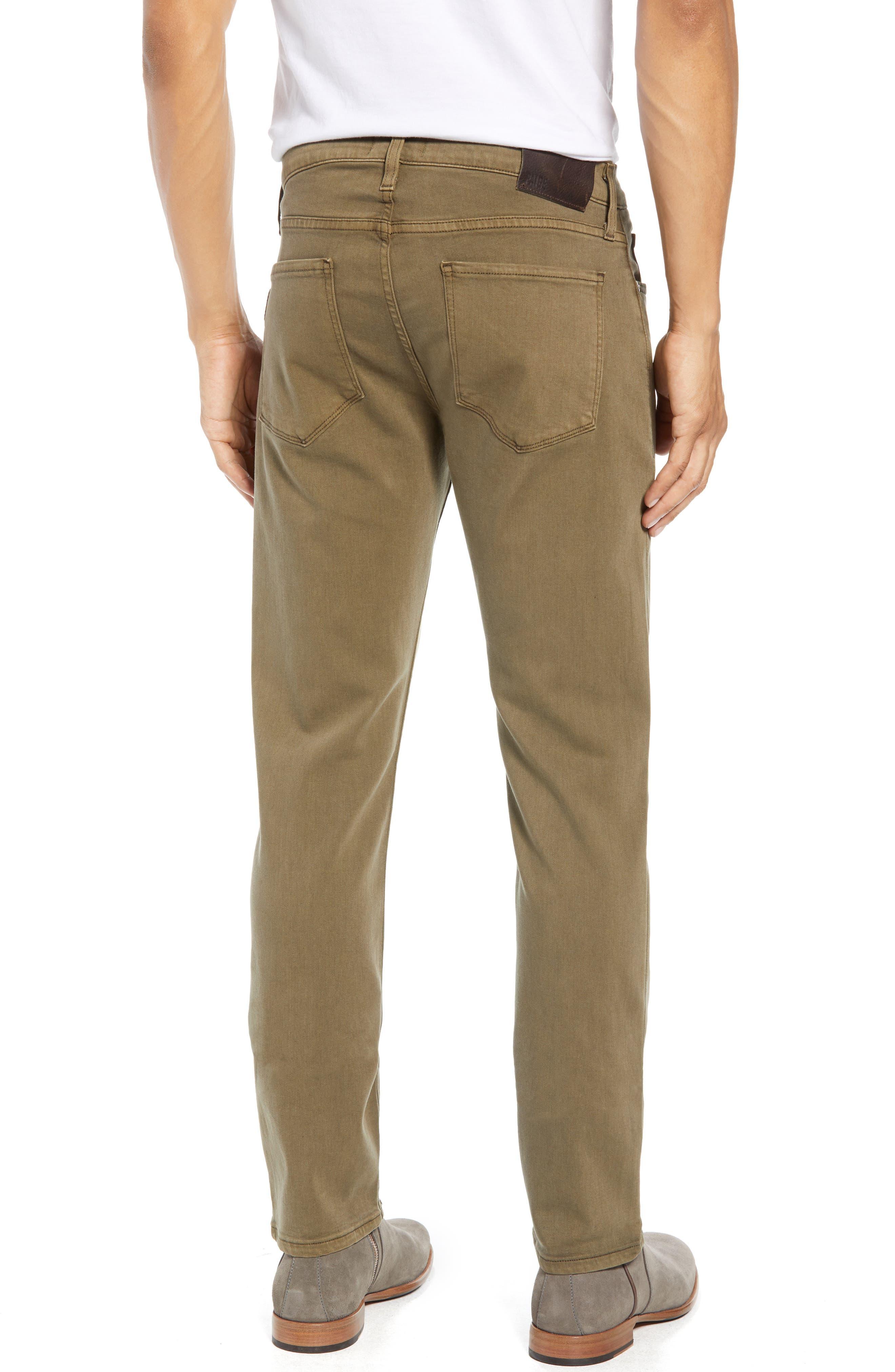 PAIGE,                             Transcend - Federal Slim Straight Leg Jeans,                             Alternate thumbnail 2, color,                             VINTAGE ARTICHOKE