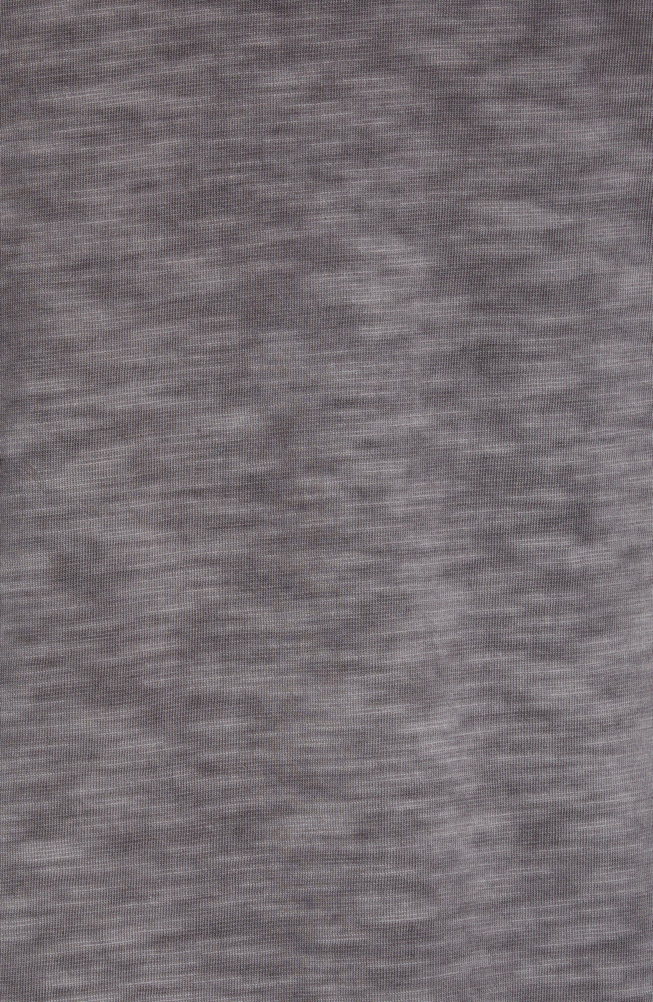 Suncoast Shores Long Sleeve V-Neck T-Shirt,                             Alternate thumbnail 5, color,                             COAL