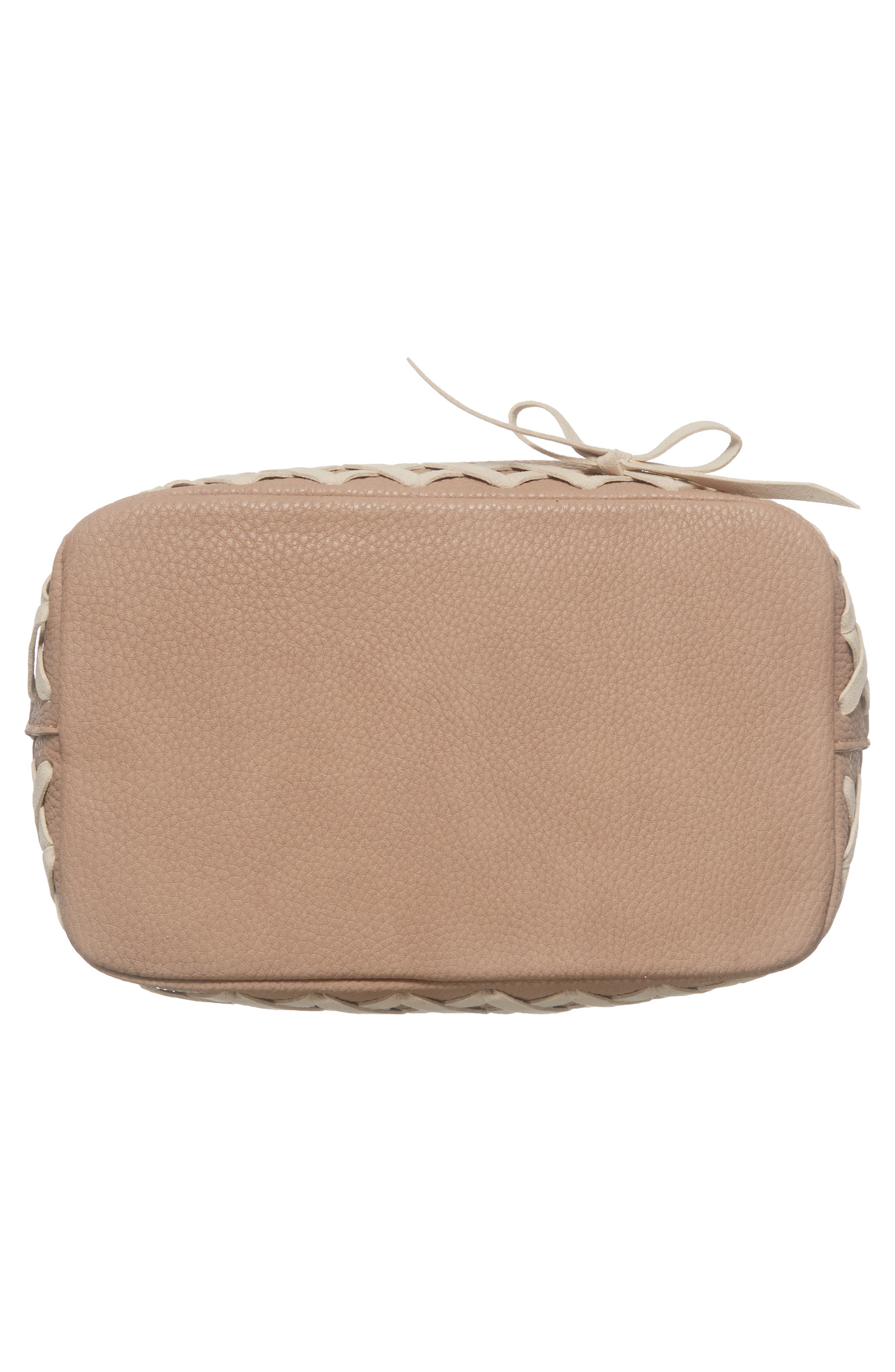 Veronica Faux Leather Bucket Bag,                             Alternate thumbnail 6, color,                             250