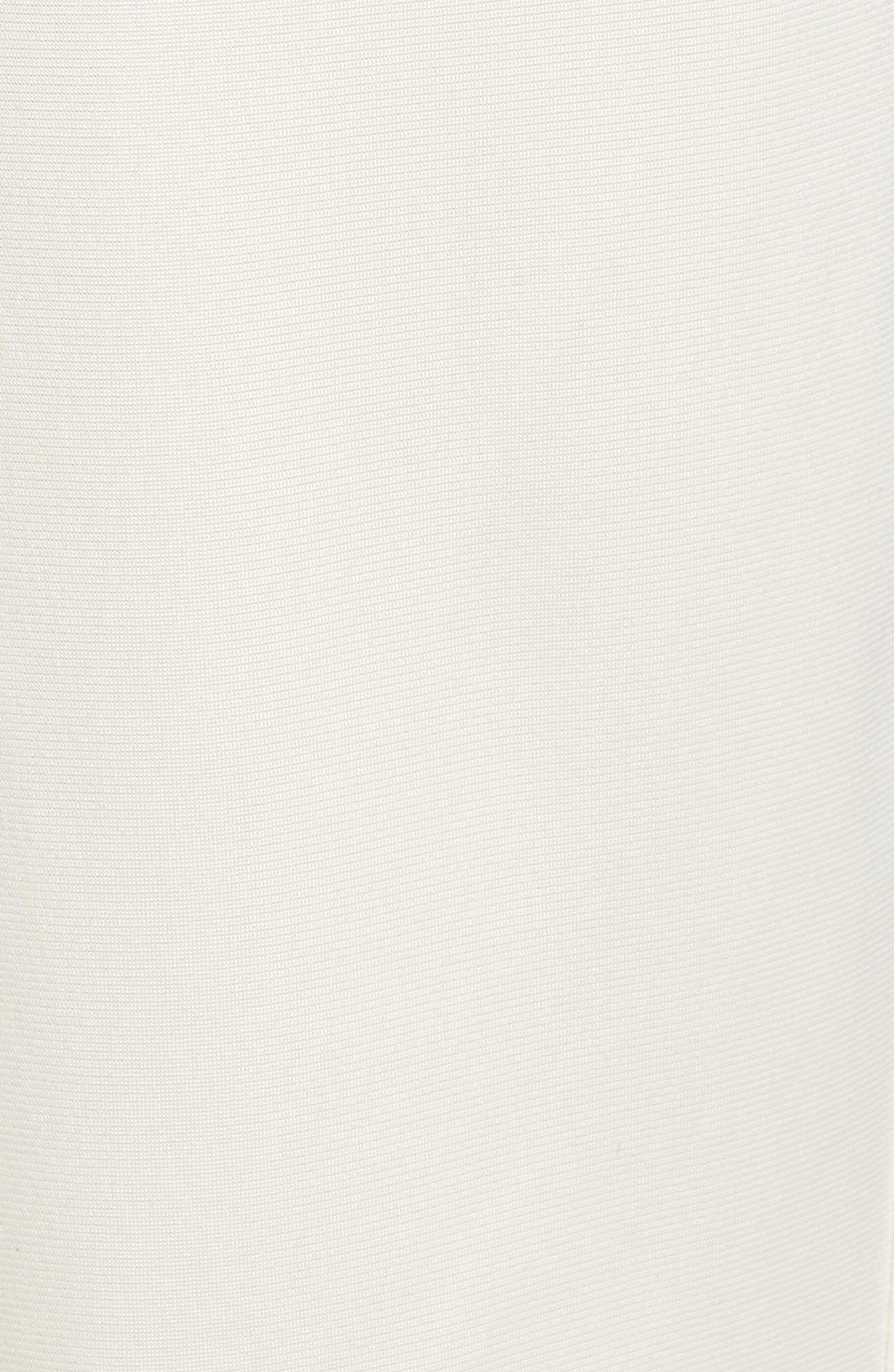 Side Stripe Track Pants,                             Alternate thumbnail 6, color,                             CHALK WHITE