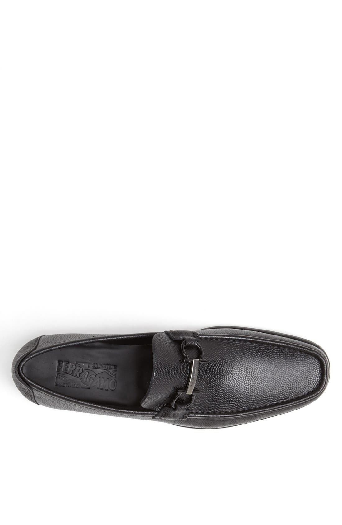'Regal' Pebbled Leather Loafer,                             Alternate thumbnail 5, color,                             001