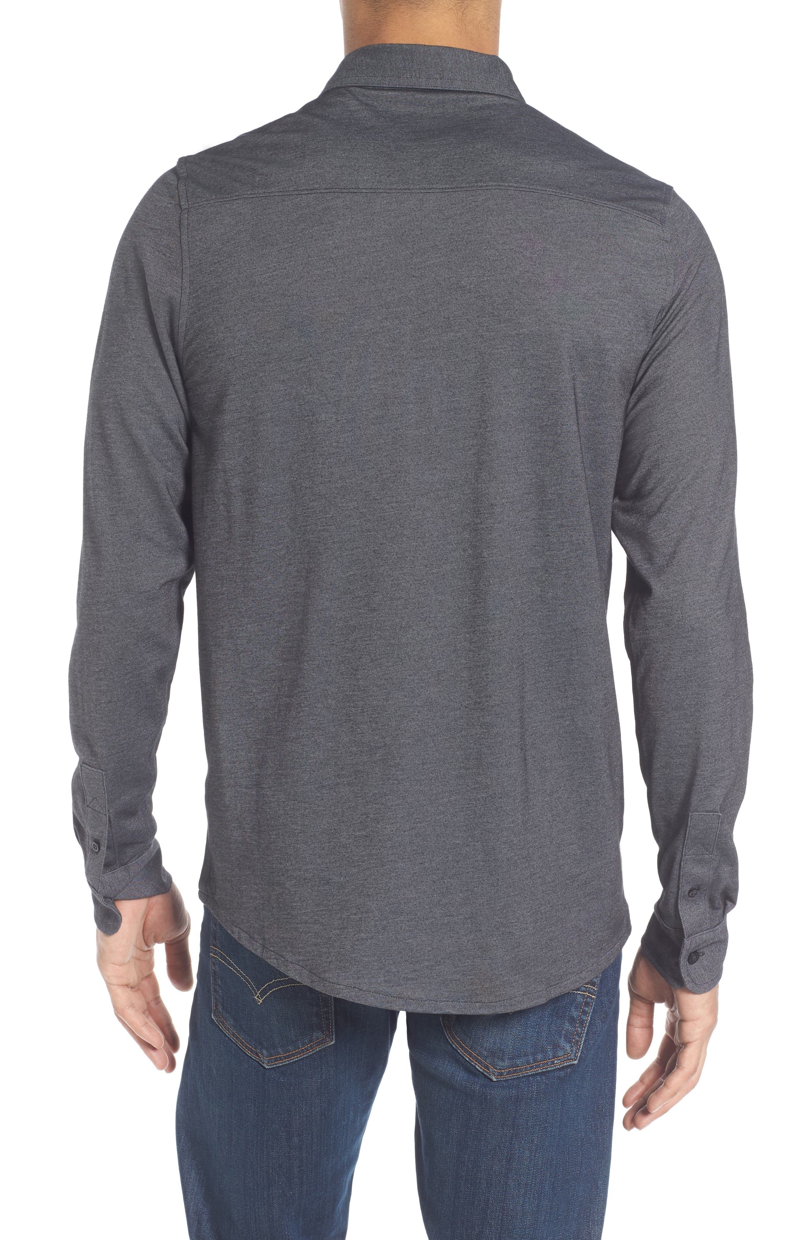 Trip'Slim Fit Wrinkle Free Sport Shirt,                             Alternate thumbnail 2, color,                             001