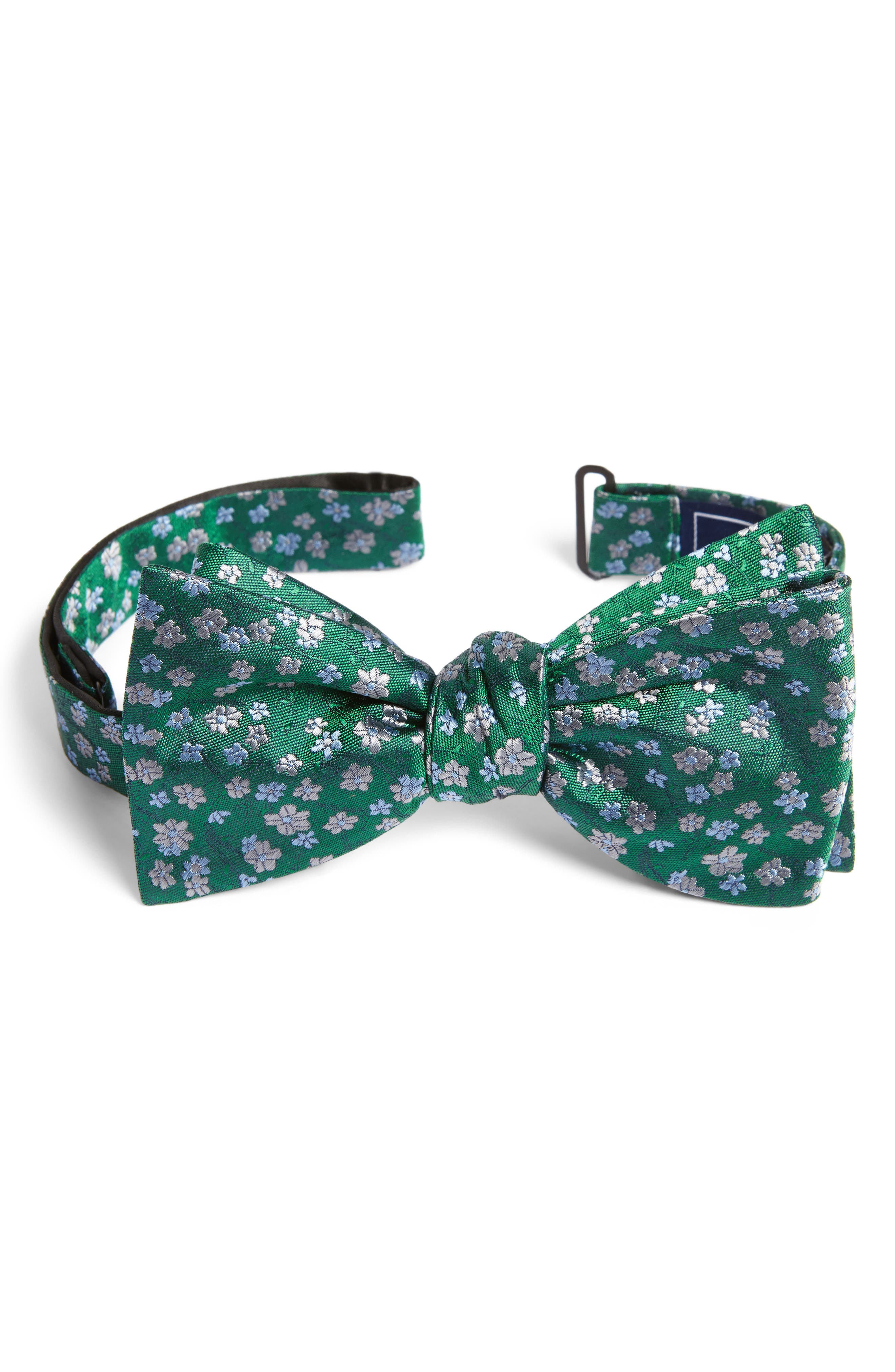 Free Fall Floral Silk Bow Tie,                             Main thumbnail 1, color,                             322