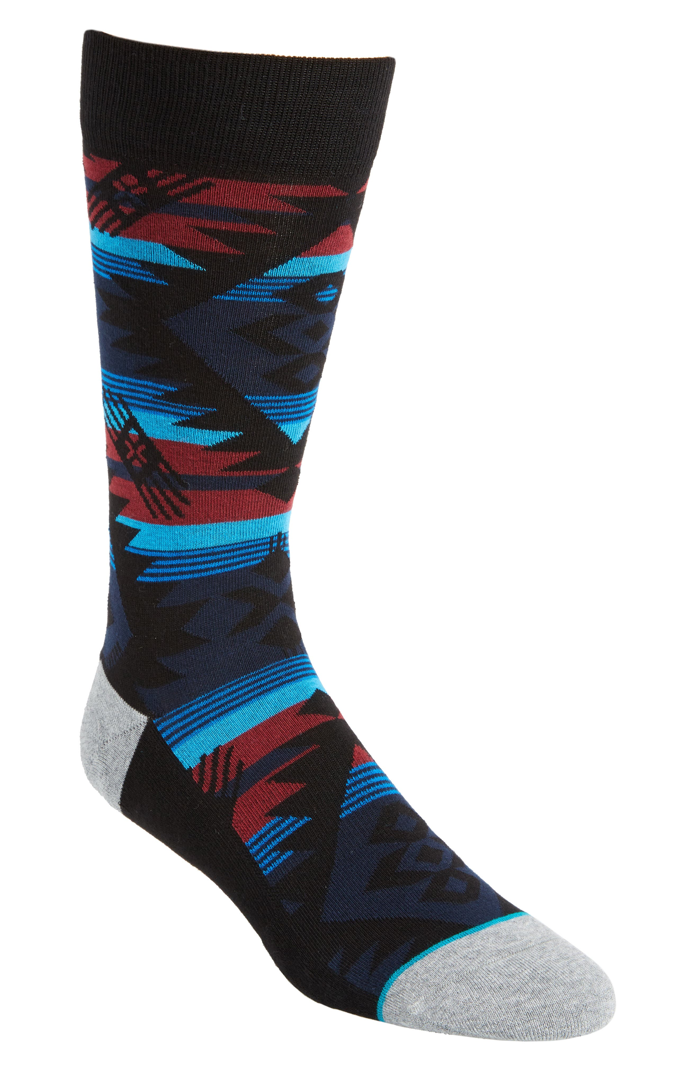 Geometric Socks,                             Main thumbnail 1, color,