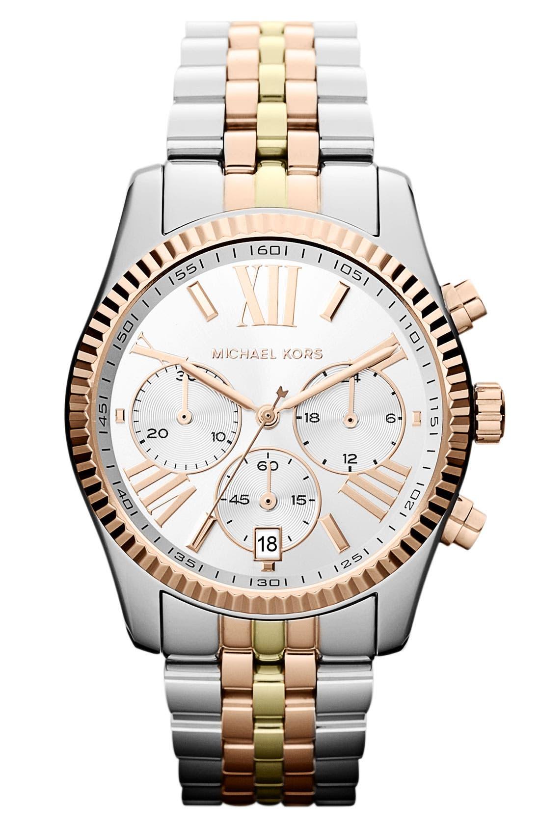 'Lexington' Chronograph Bracelet Watch, 38mm,                             Main thumbnail 3, color,