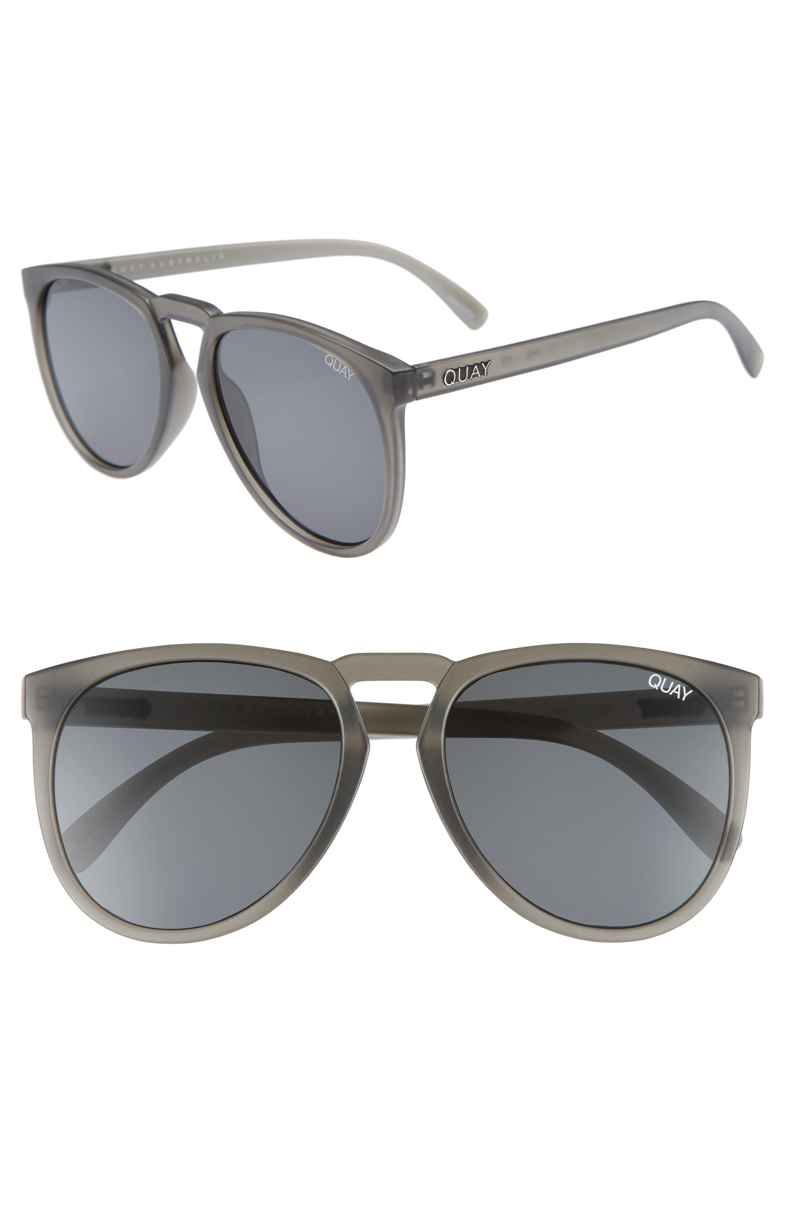 PhD 65mm Sunglasses,                         Main,                         color, GREY/SMOKE