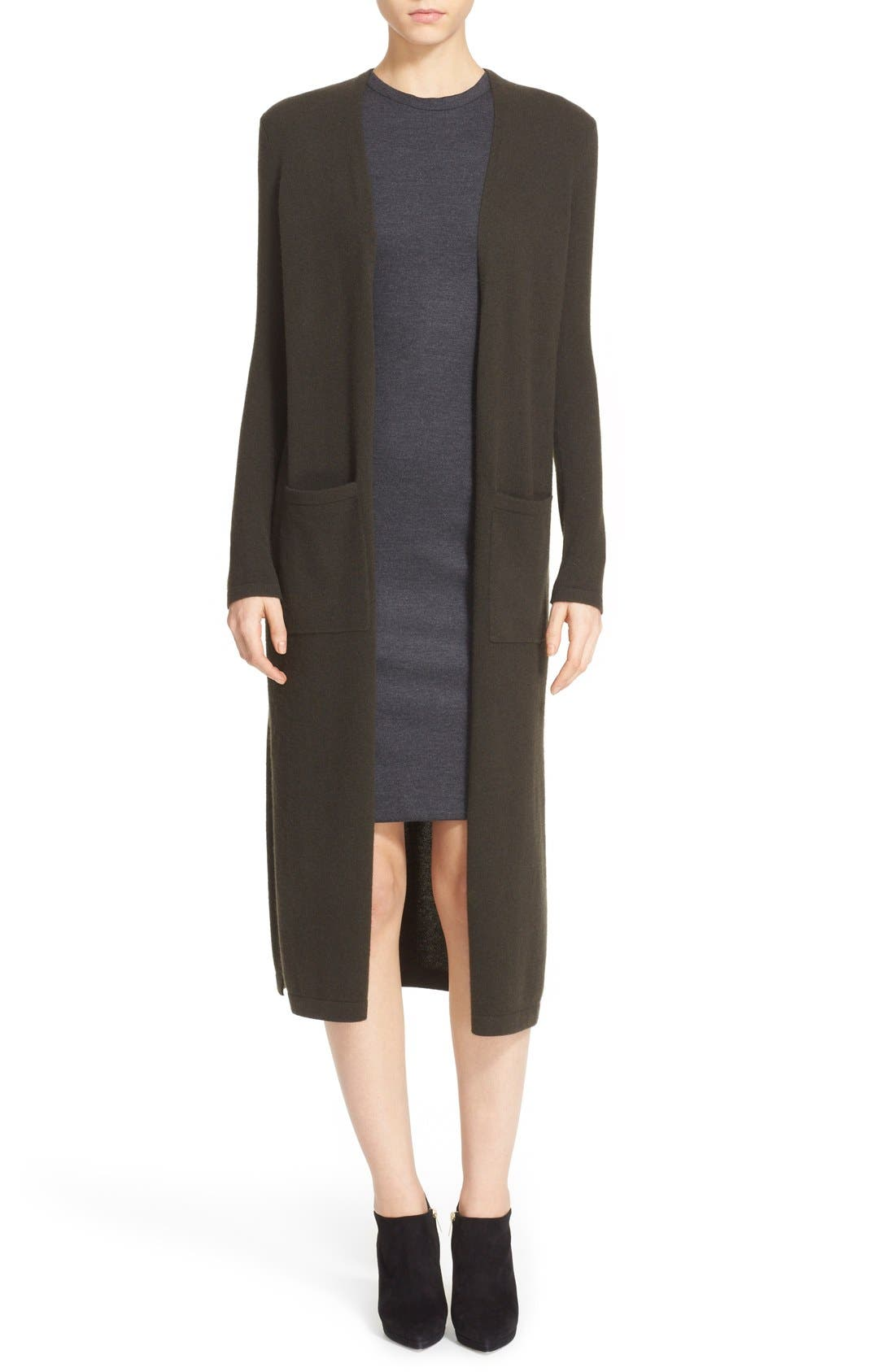 'Torina' Long Cashmere Cardigan, Main, color, 327
