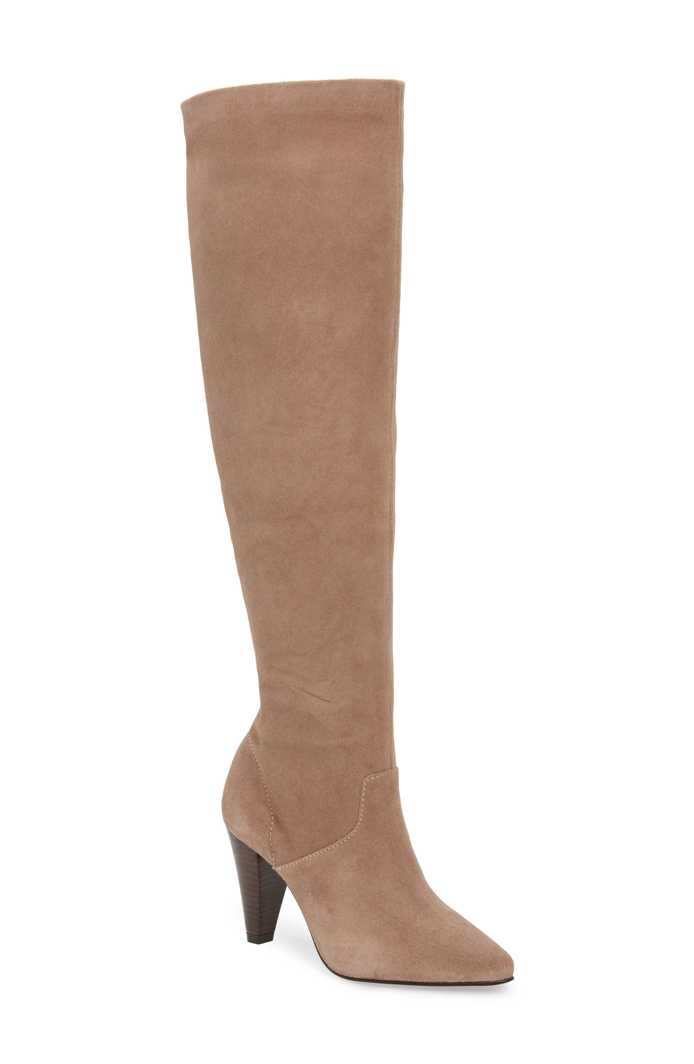 LUST FOR LIFE California Over The Knee Boot in Taupe Suede