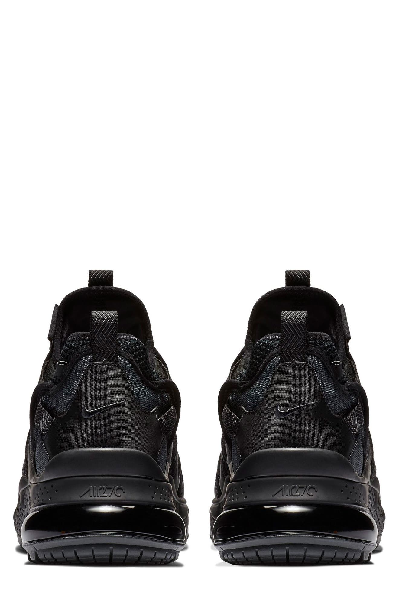 Air Max 270 Bowfin Sneaker,                             Alternate thumbnail 5, color,                             BLACK/ ANTHRACITE/ BLACK
