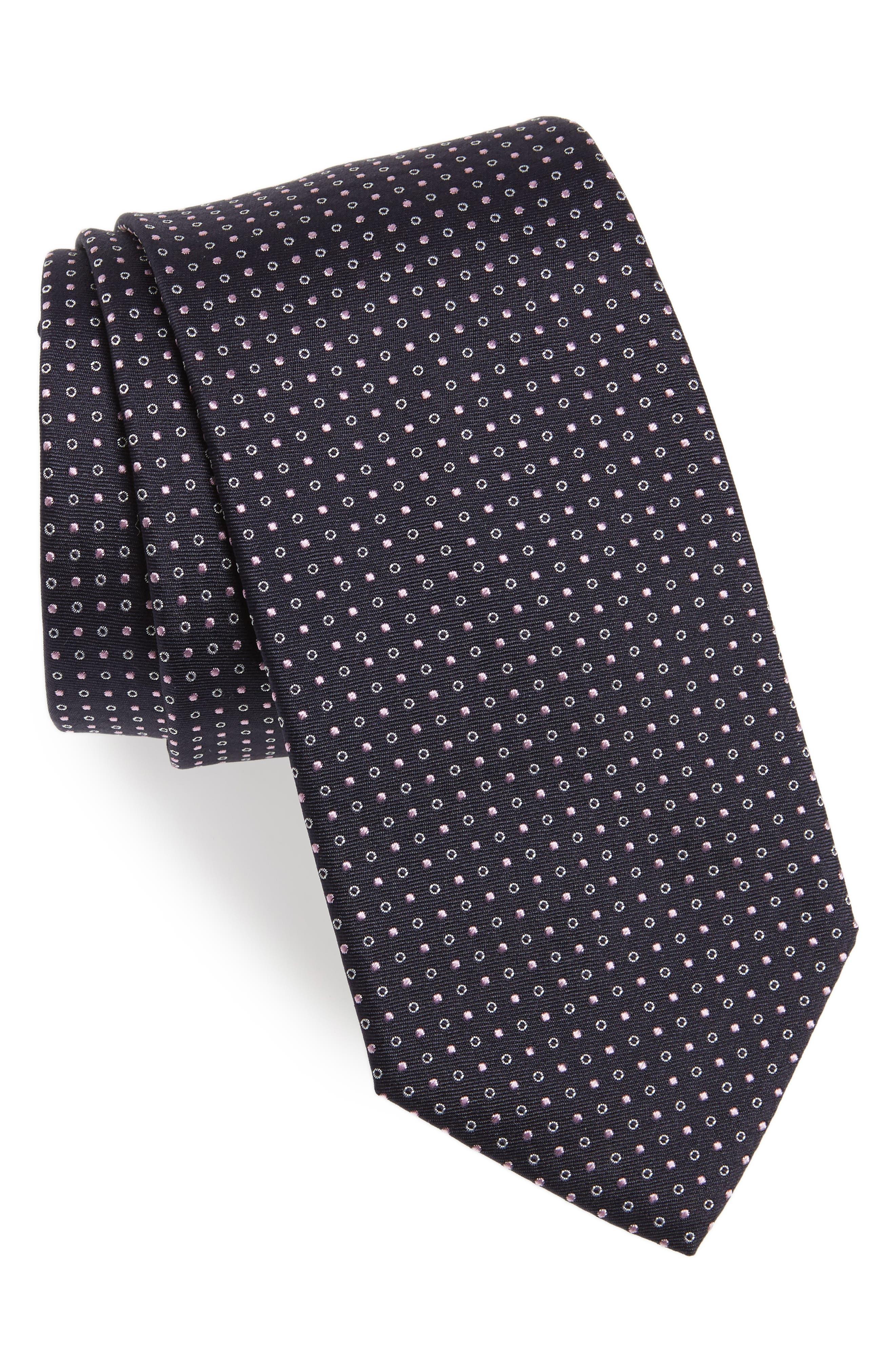 Dot Silk Tie,                             Main thumbnail 1, color,                             685