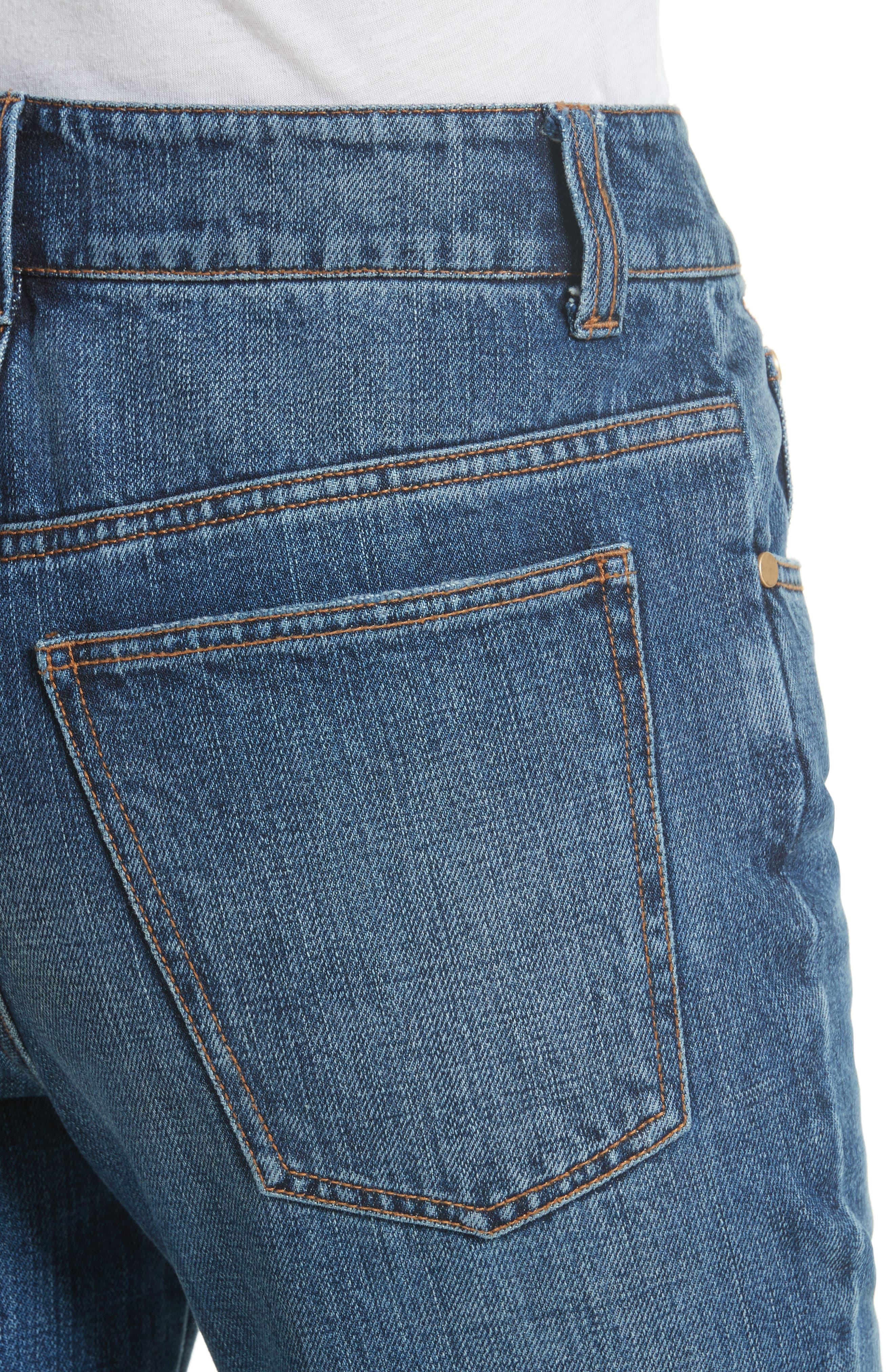 Ankle Flare High Waist Jeans,                             Alternate thumbnail 4, color,                             401