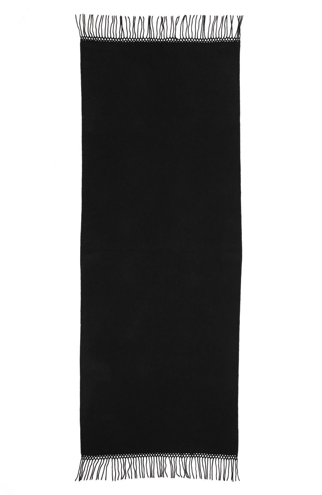 NORDSTROM,                             Woven Cashmere Wrap,                             Alternate thumbnail 2, color,                             001