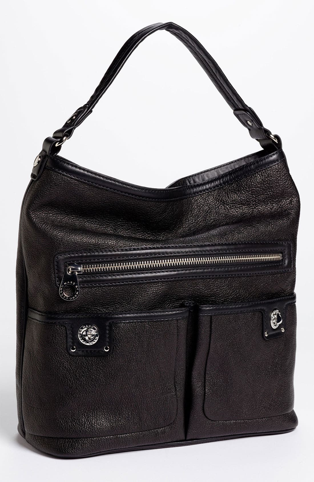 MARC JACOBS MARC BY MARC JACOBS 'Totally Turnlock - Faridah' Hobo, Main, color, 001