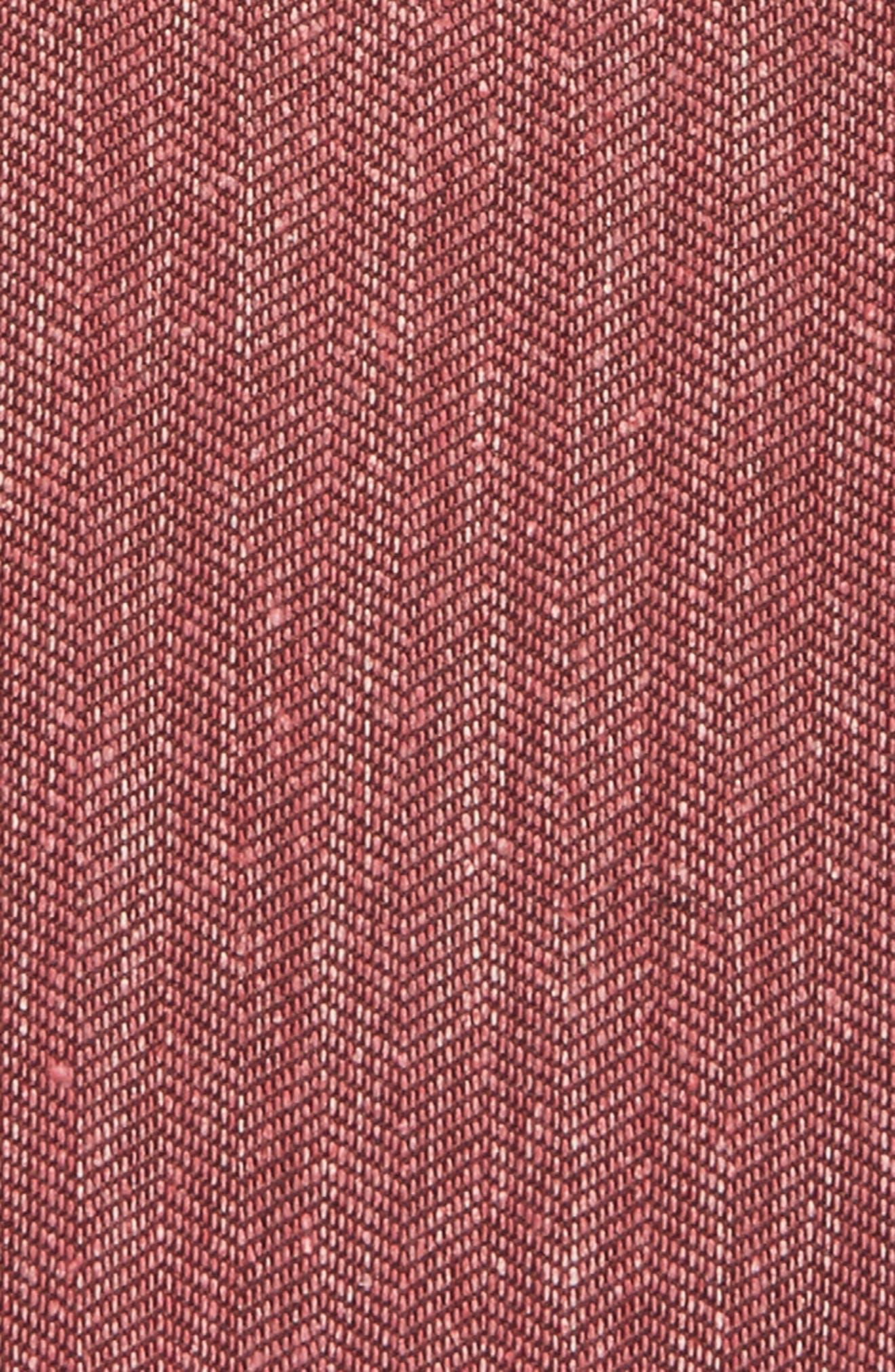 Threaded Zigzag Silk Pocket Square,                             Alternate thumbnail 9, color,