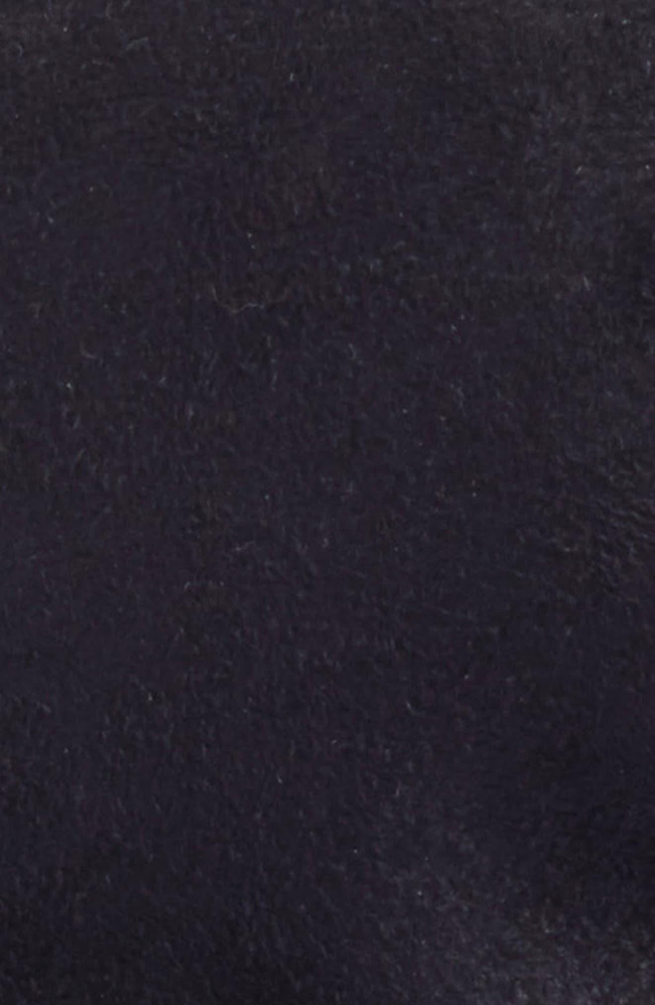 Mika Packable Faux Suede Cap,                             Alternate thumbnail 3, color,                             001