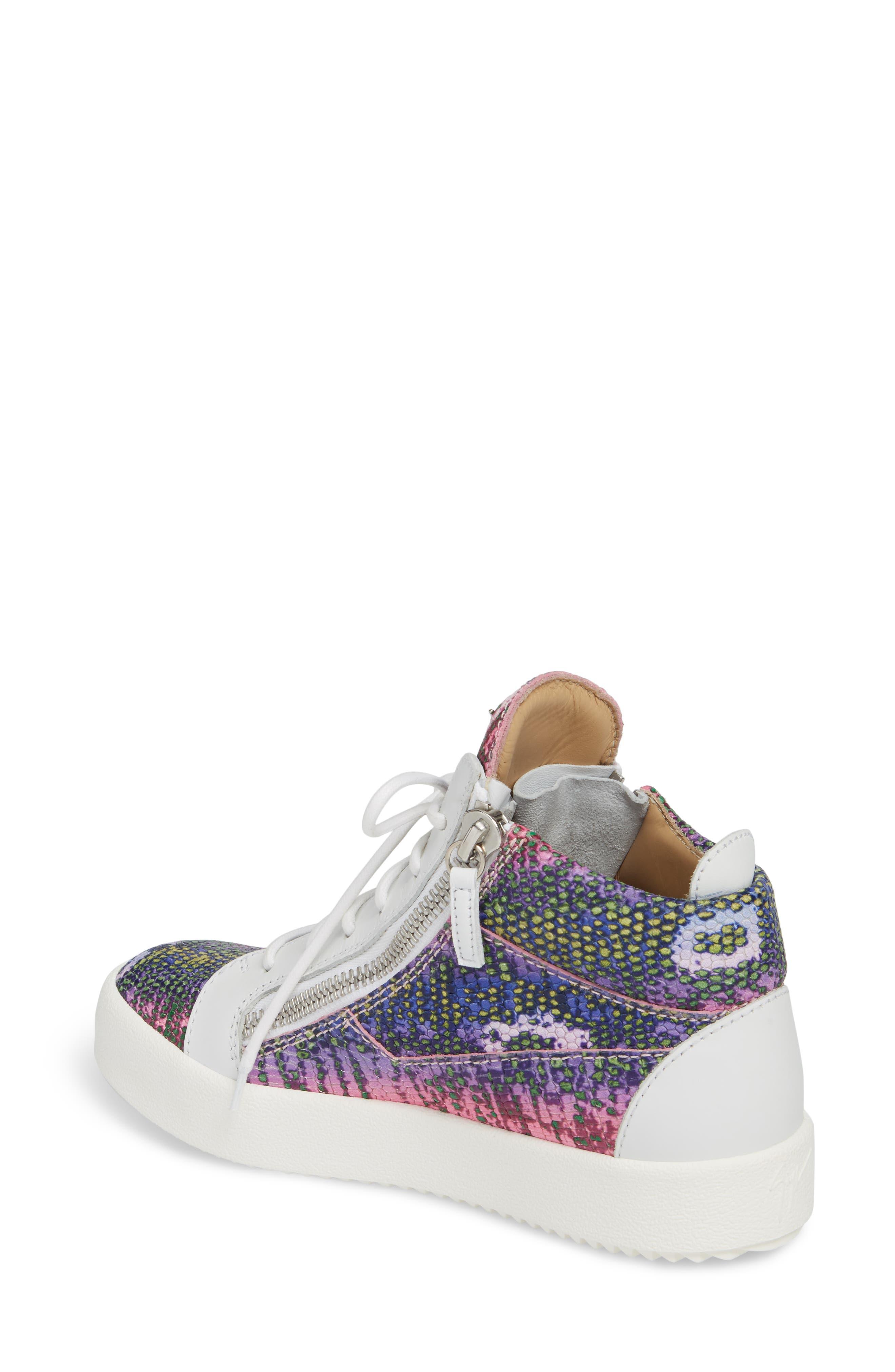 May London Mid Top Sneaker,                             Alternate thumbnail 2, color,                             PINK MULTI