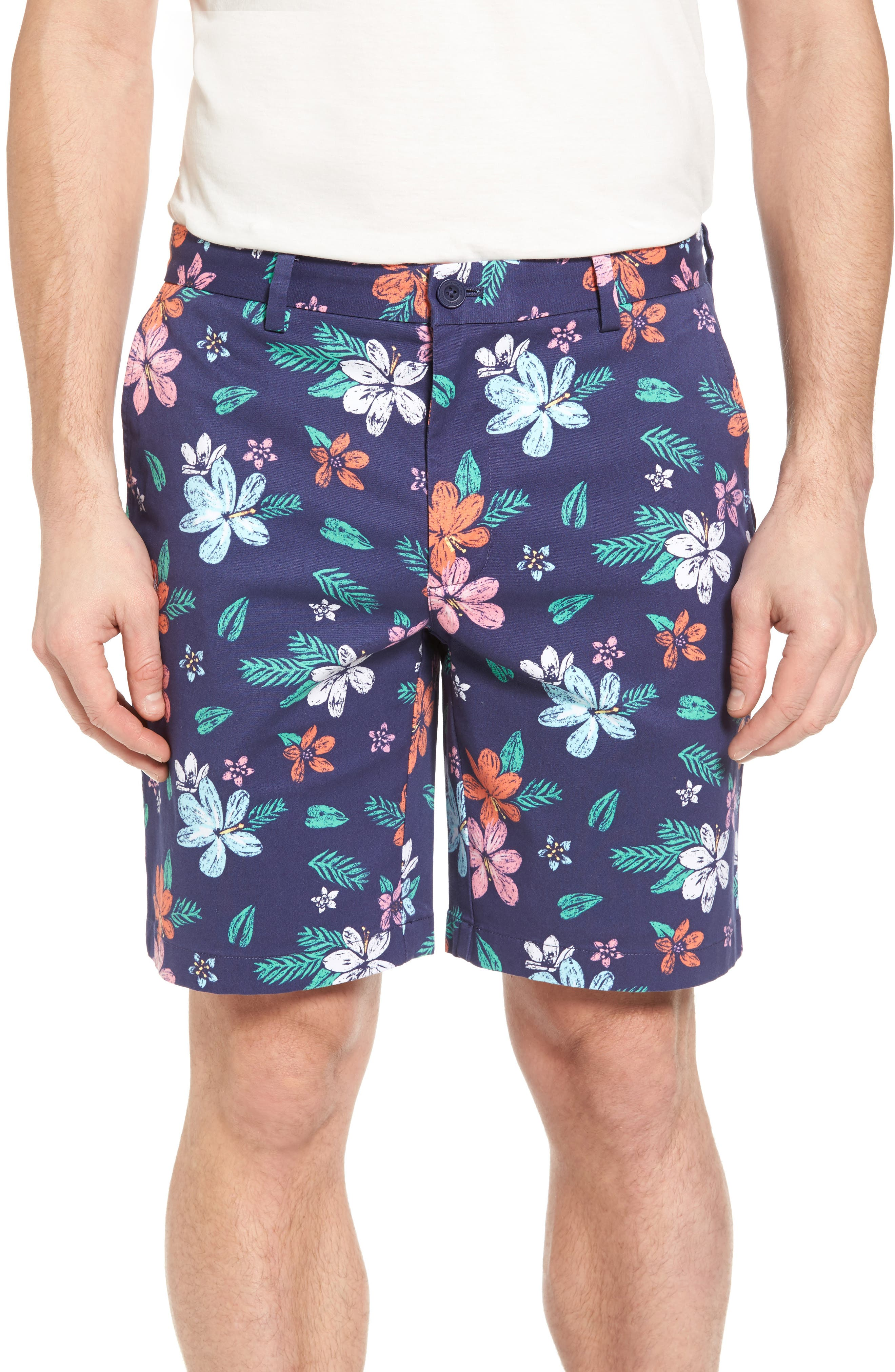 Floral Print Breaker Shorts,                         Main,                         color, 400