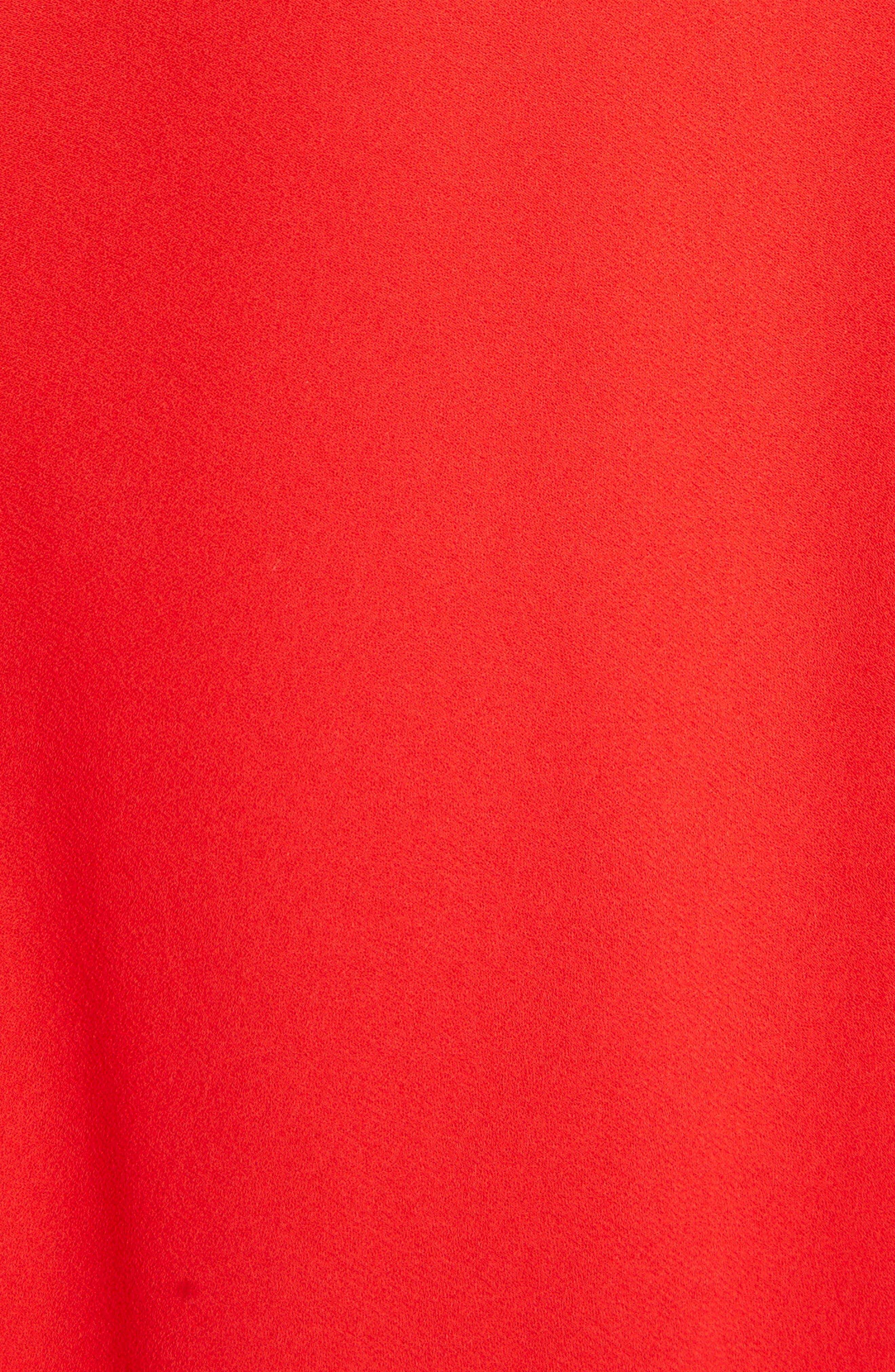 Asymmetrical Ruffle Trim Silk Georgette Top,                             Alternate thumbnail 4, color,                             646