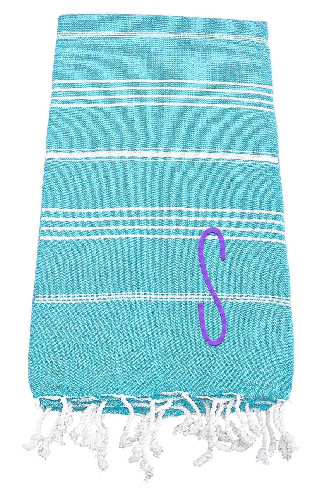 Monogram Turkish Cotton Towel,                             Main thumbnail 101, color,