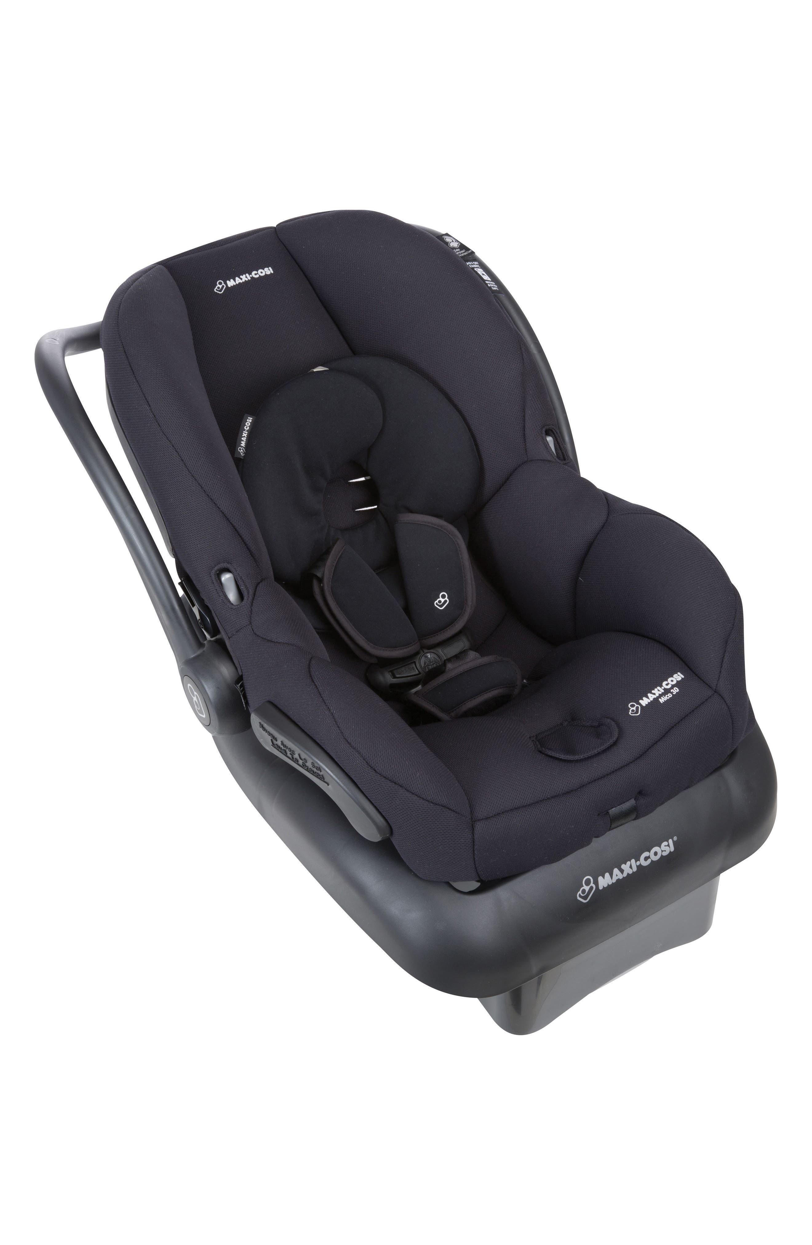 Mico 30 Infant Car Seat,                             Alternate thumbnail 6, color,                             NIGHT BLACK