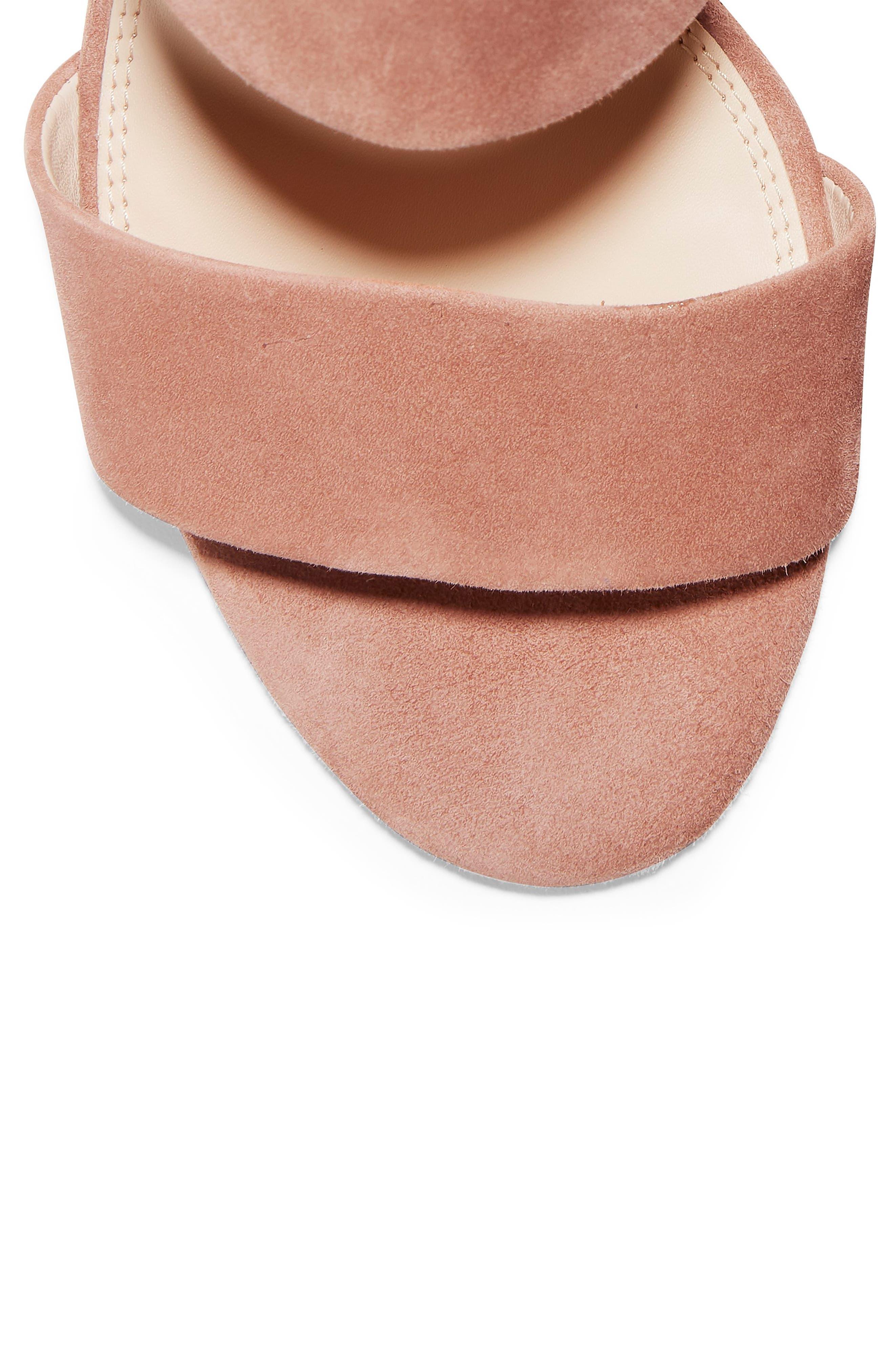 Avani Block Heel Sandal,                             Alternate thumbnail 7, color,                             MOCHA MOUSSE SUEDE
