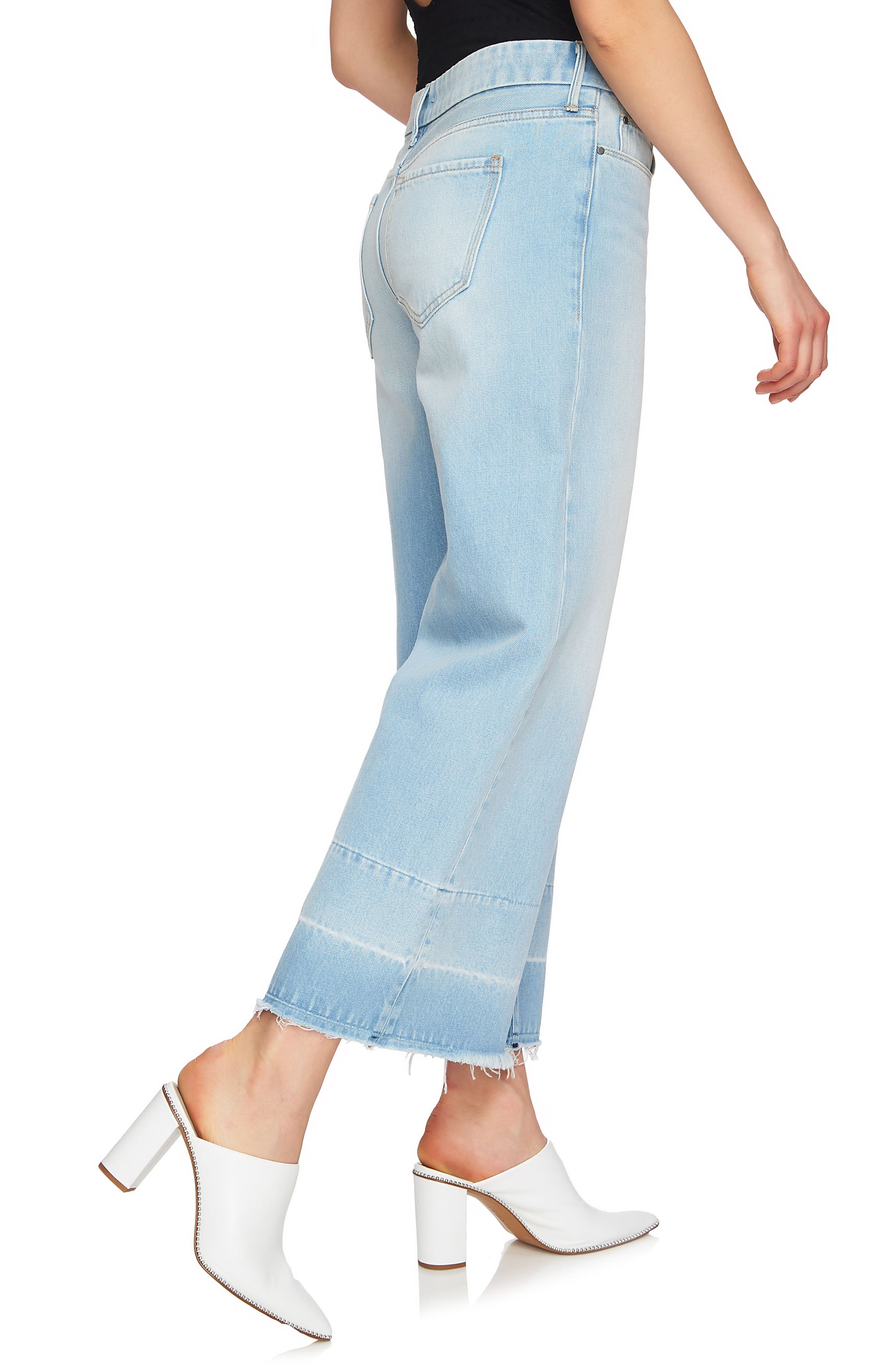 Released Hem Wide Leg Jeans,                             Alternate thumbnail 3, color,                             434