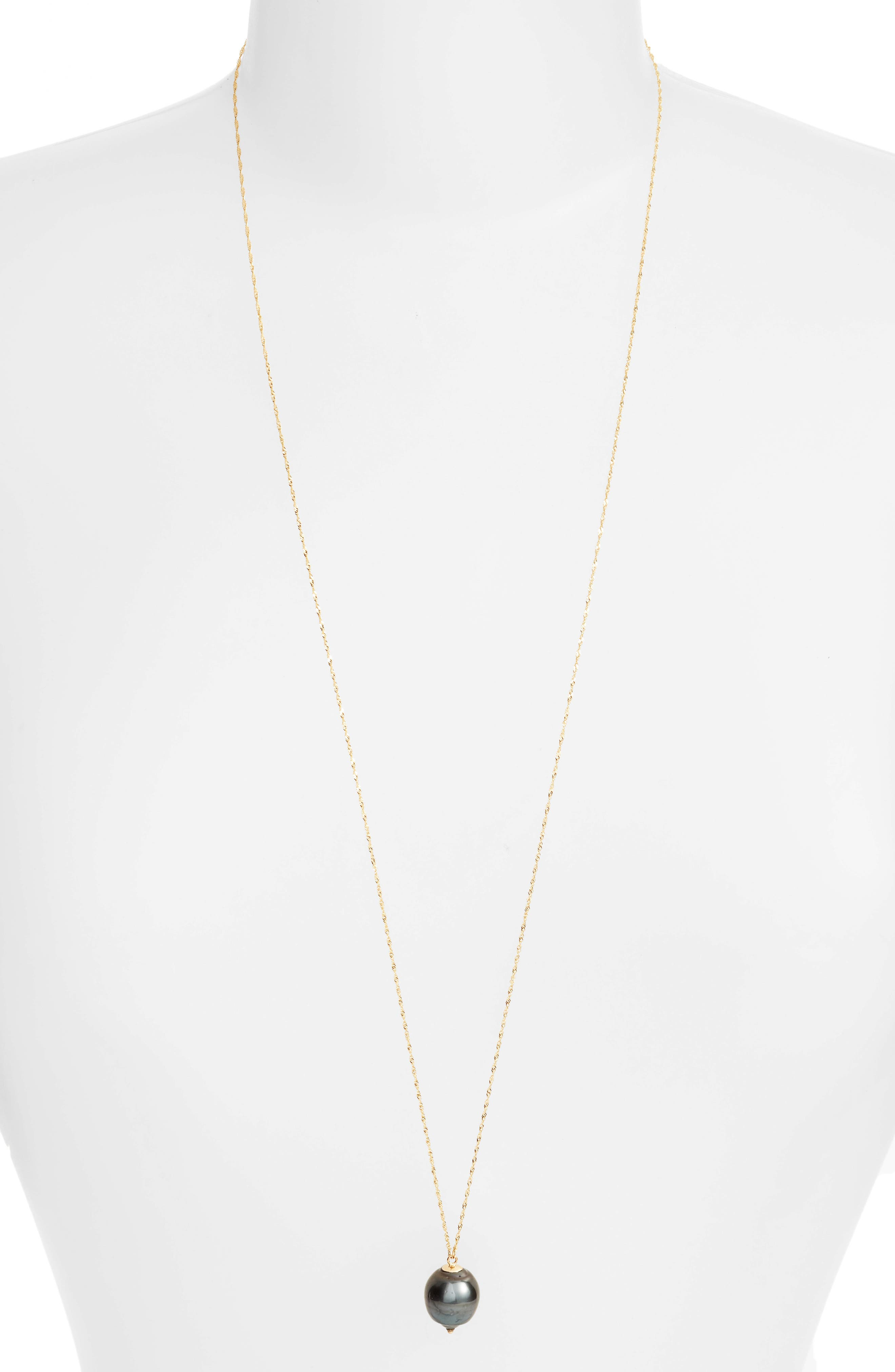 Long Pearl Pendant Necklace,                             Alternate thumbnail 2, color,                             710