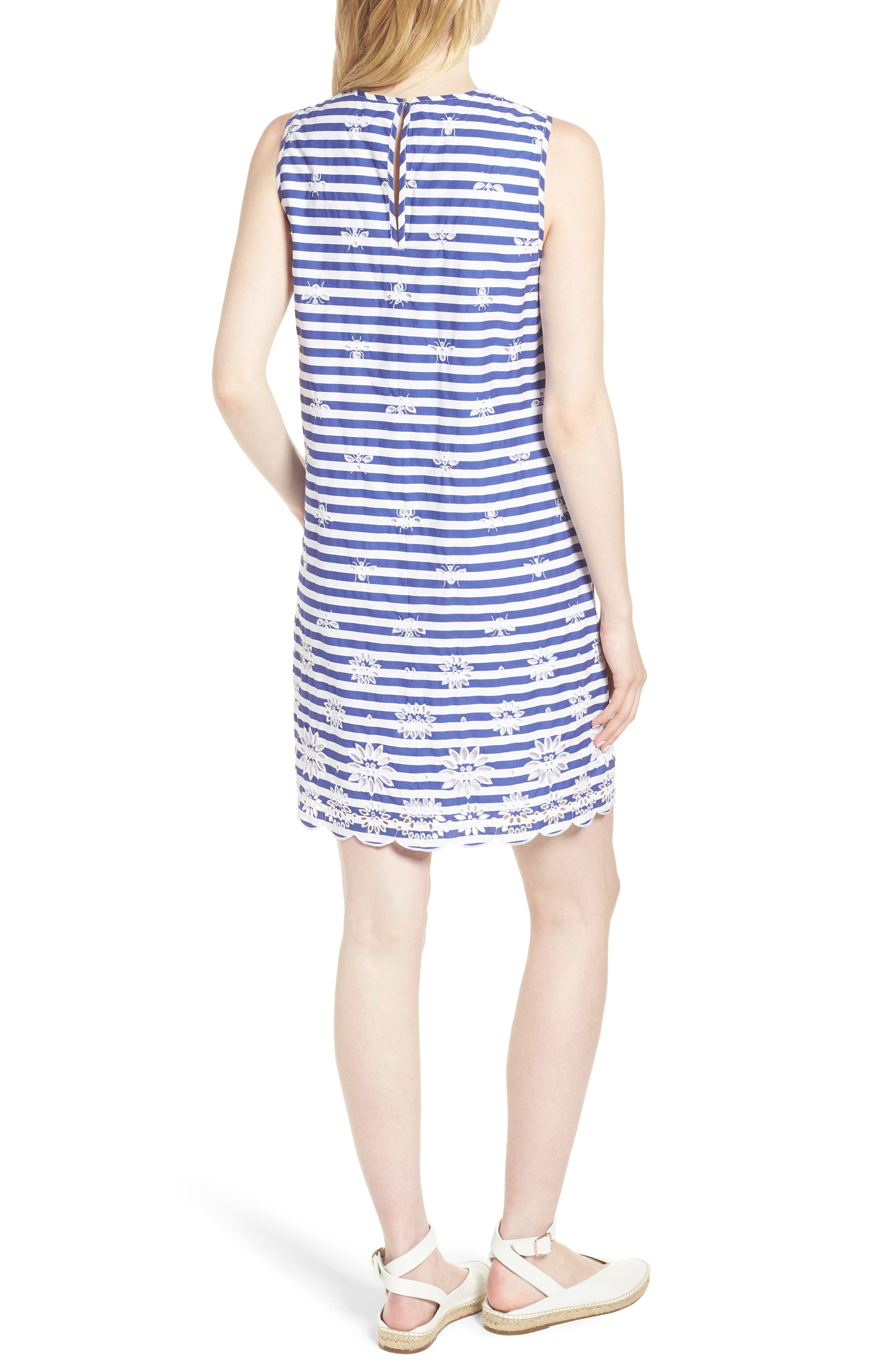 Dante Embroidered Stripe Dress,                             Alternate thumbnail 2, color,                             400
