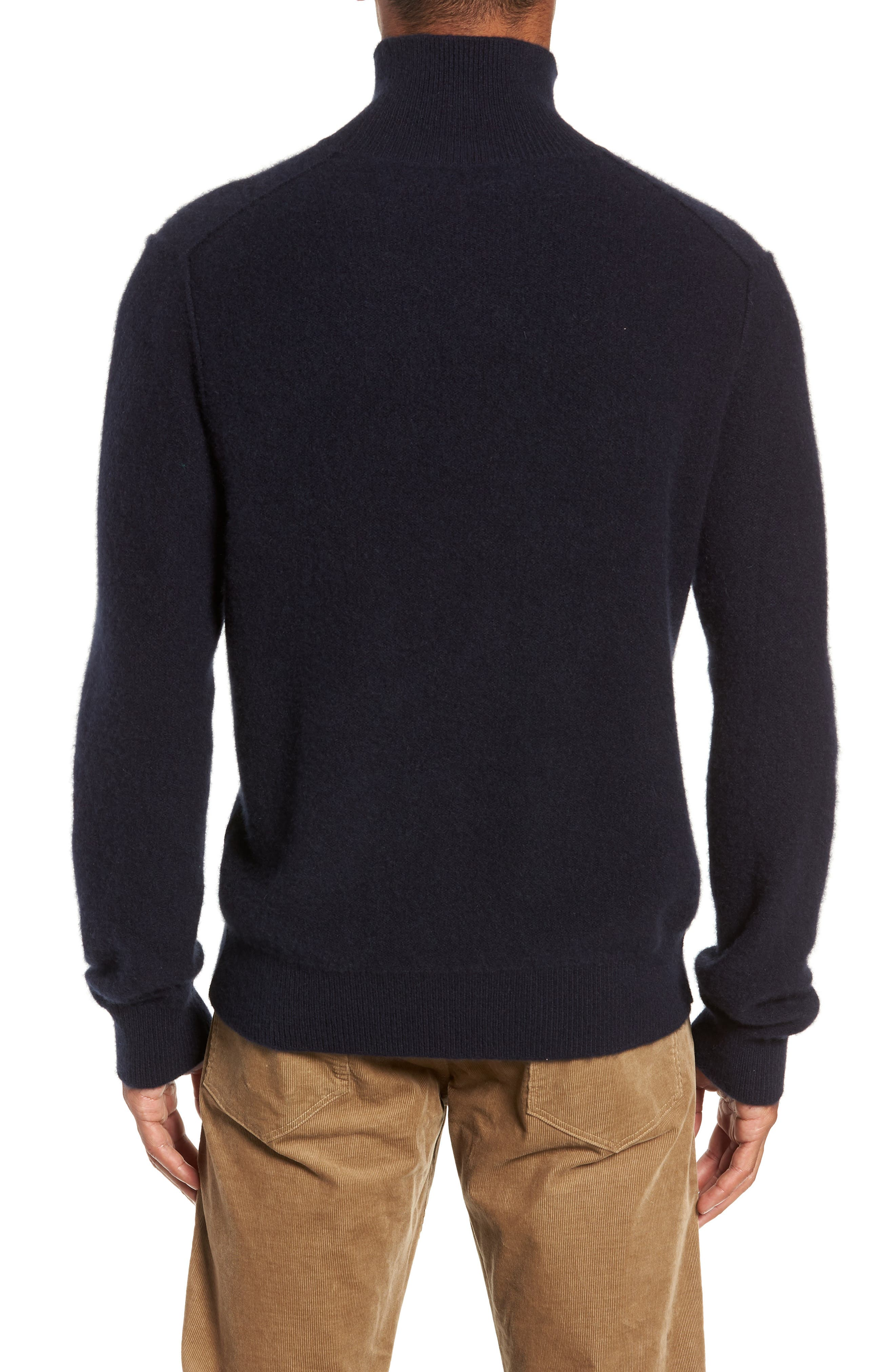 Ribbed Cashmere Turtleneck Sweater,                             Alternate thumbnail 2, color,                             COASTAL