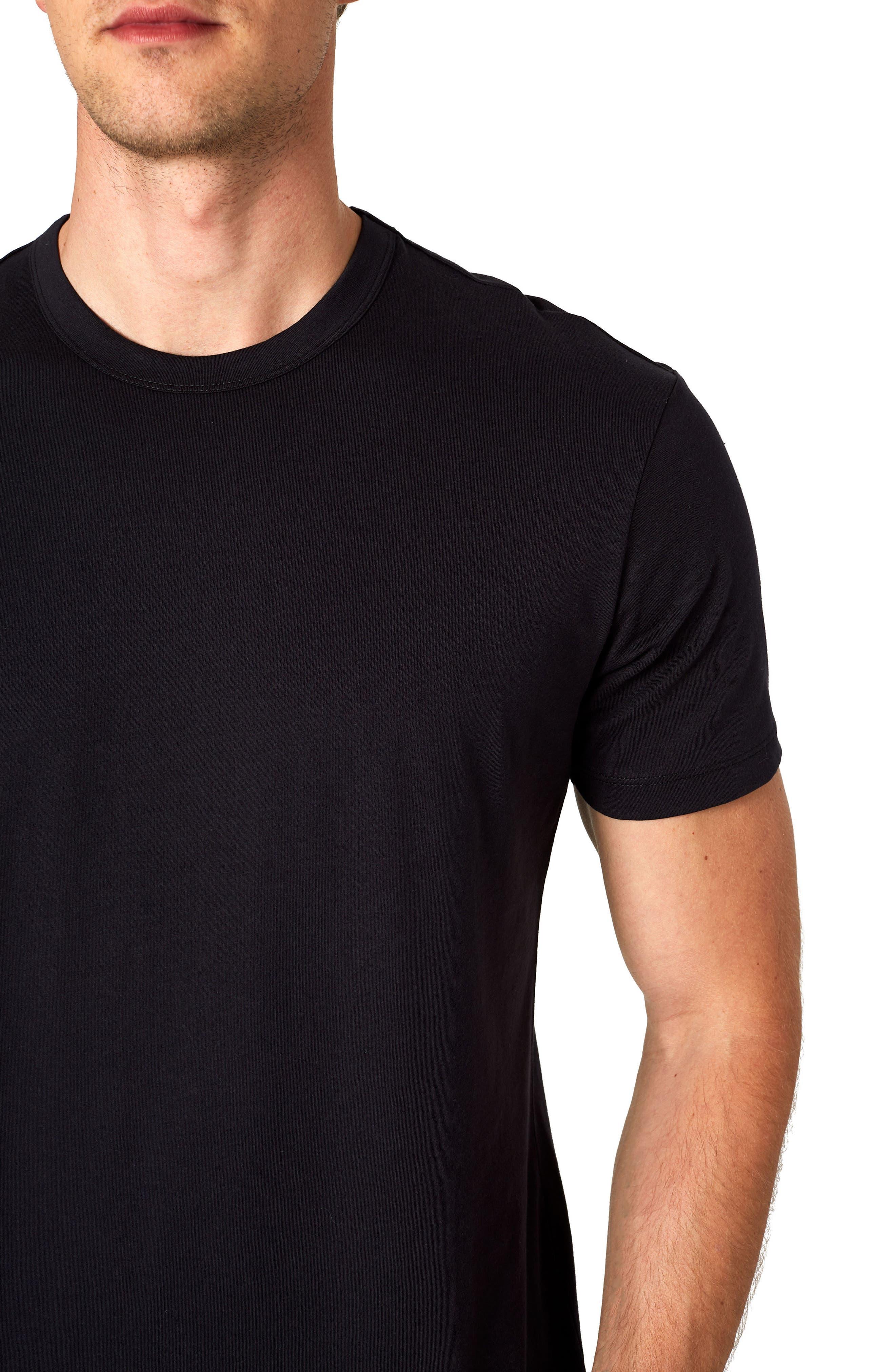 Iqonicq Crewneck T-Shirt,                             Alternate thumbnail 4, color,                             BLACK