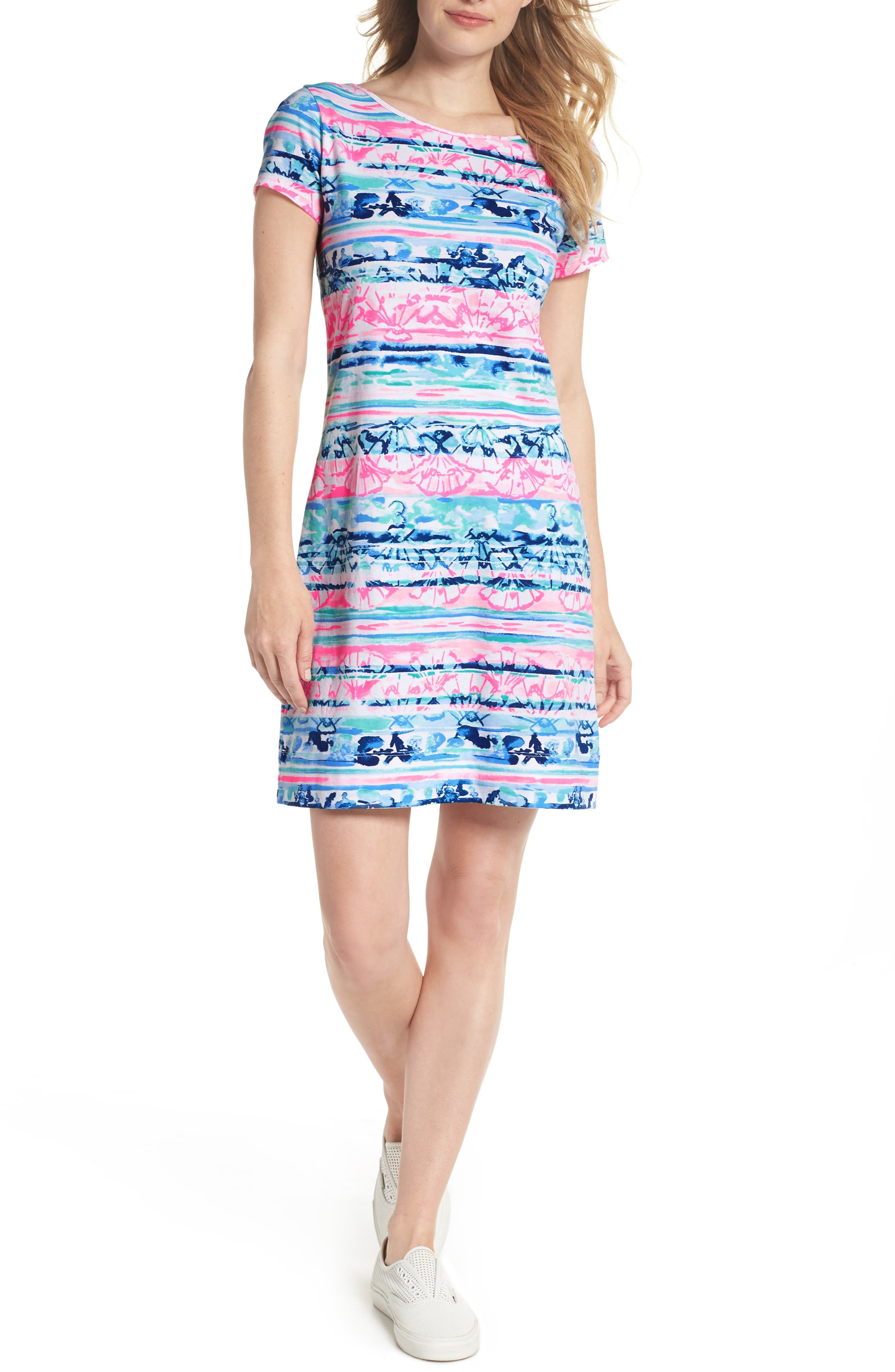 Marlowe T-Shirt Dress,                             Main thumbnail 1, color,                             MULTI A WAVE FROM IT