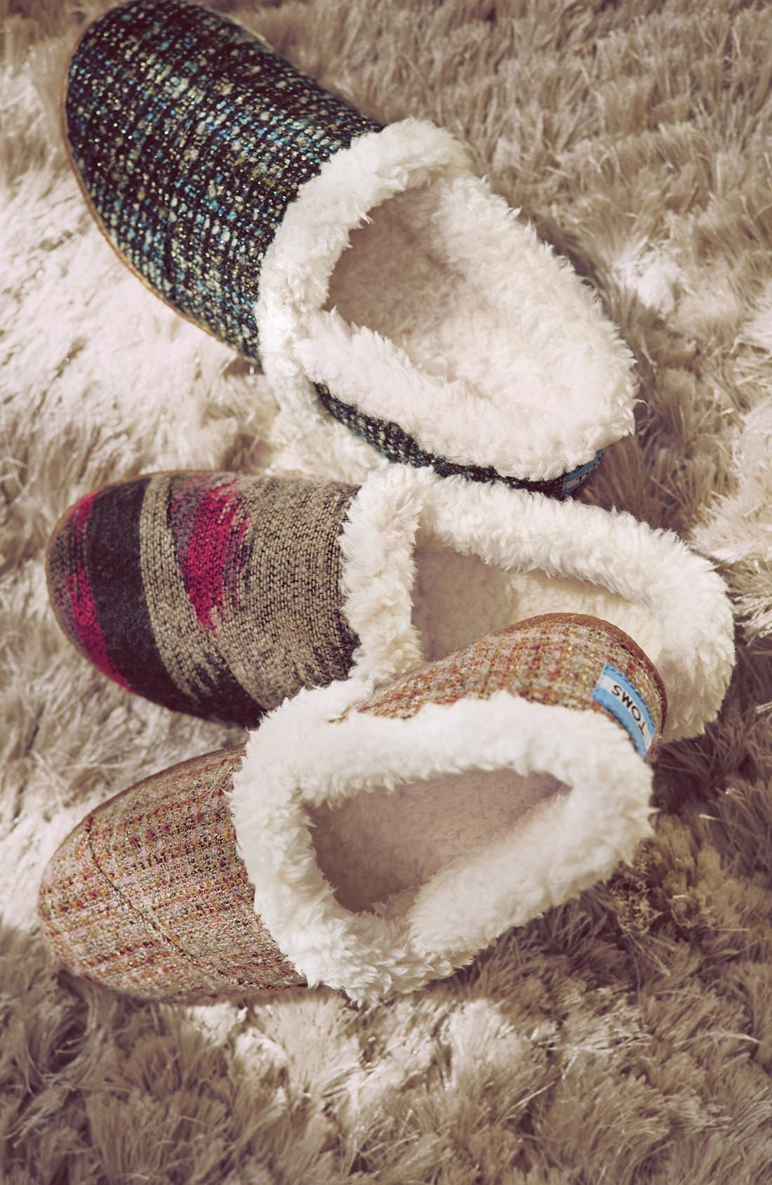 TOMS,                             'Classic - Wool' Slippers,                             Alternate thumbnail 6, color,                             050