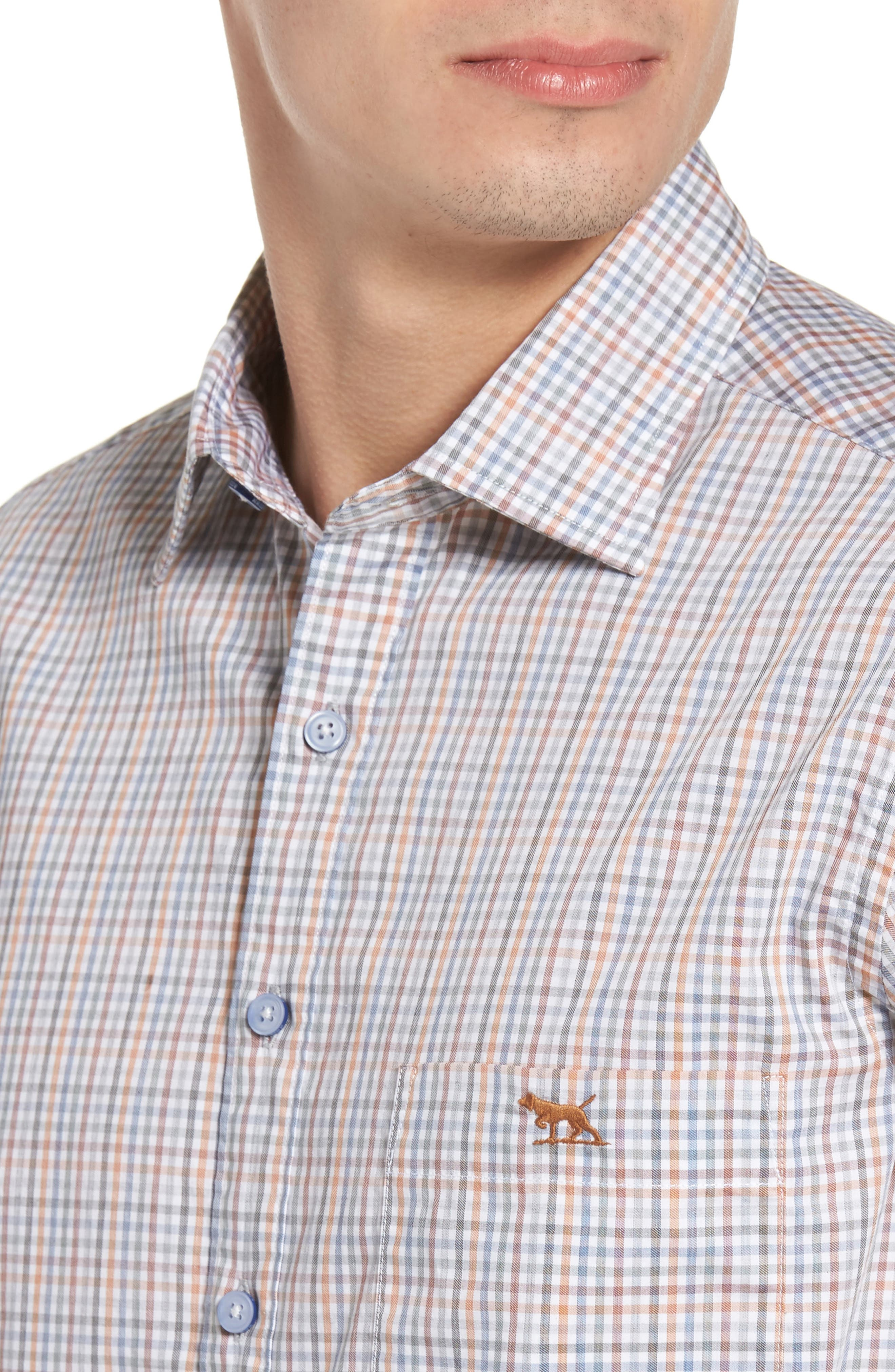 Woodlaw Original Fit Check Sport Shirt,                             Alternate thumbnail 7, color,