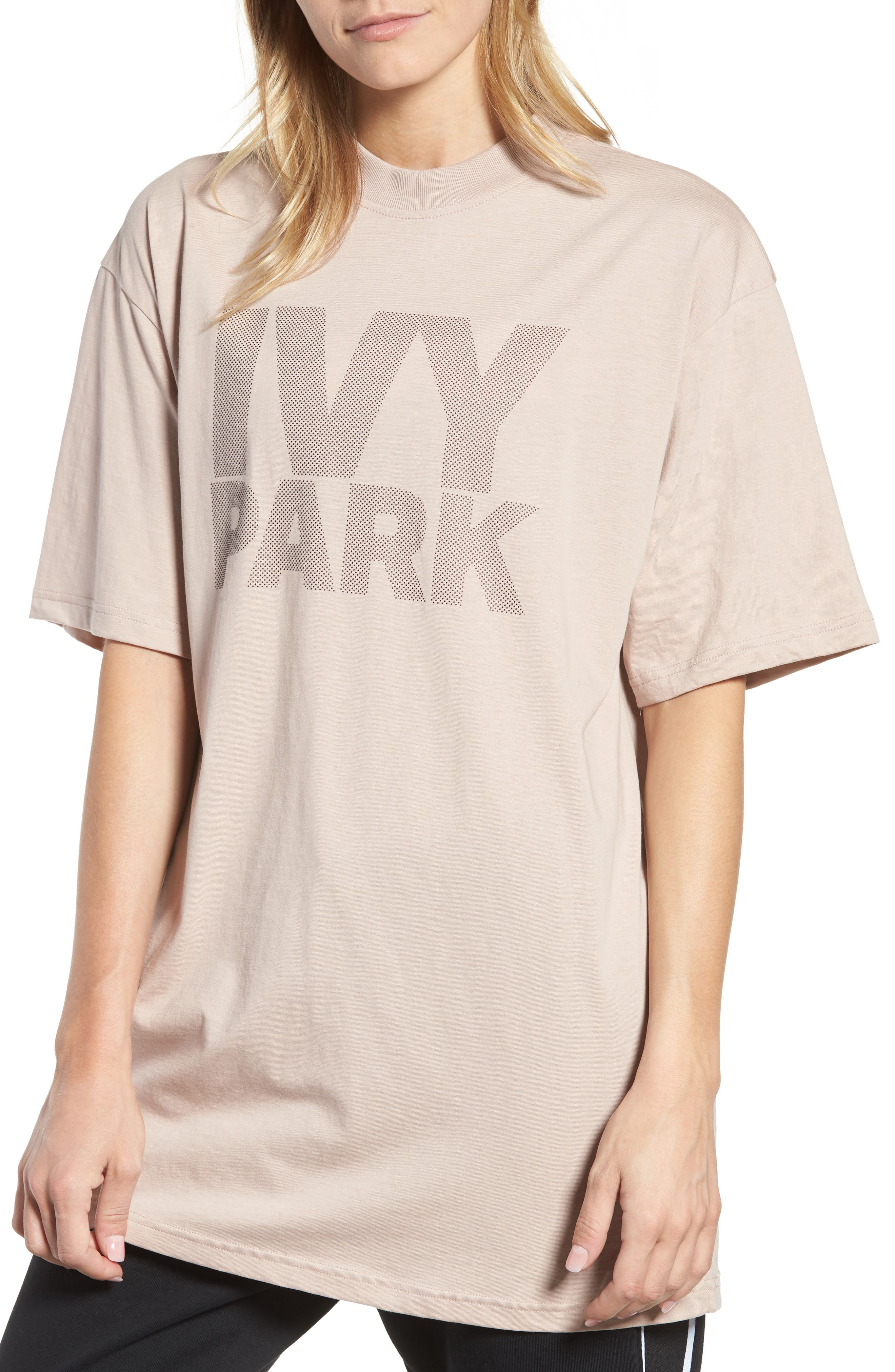 Dotted Logo Oversized Tee,                             Main thumbnail 2, color,