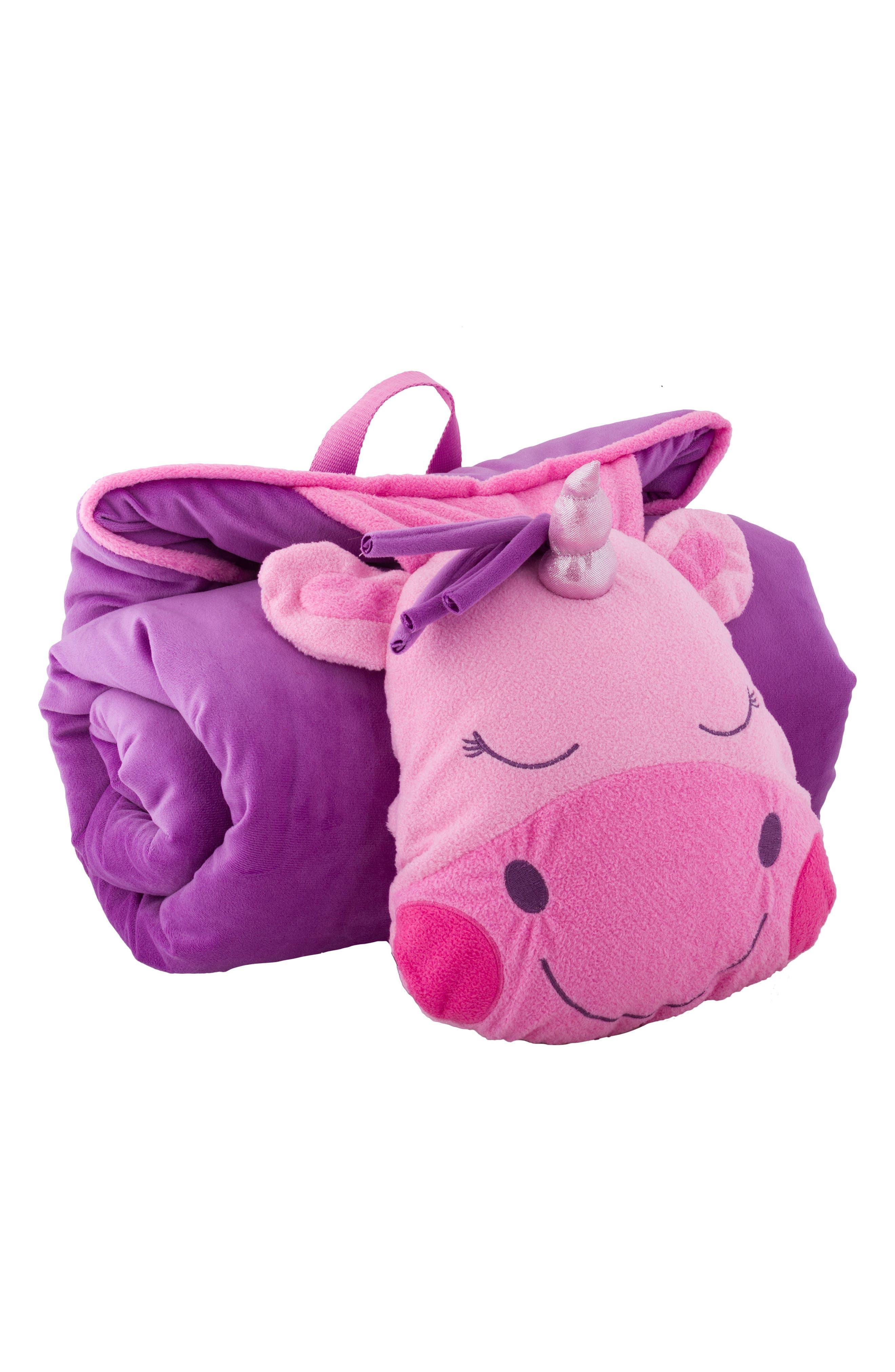 Portable Nap Mat, Pillow & Blanket,                             Main thumbnail 1, color,                             UNICORN