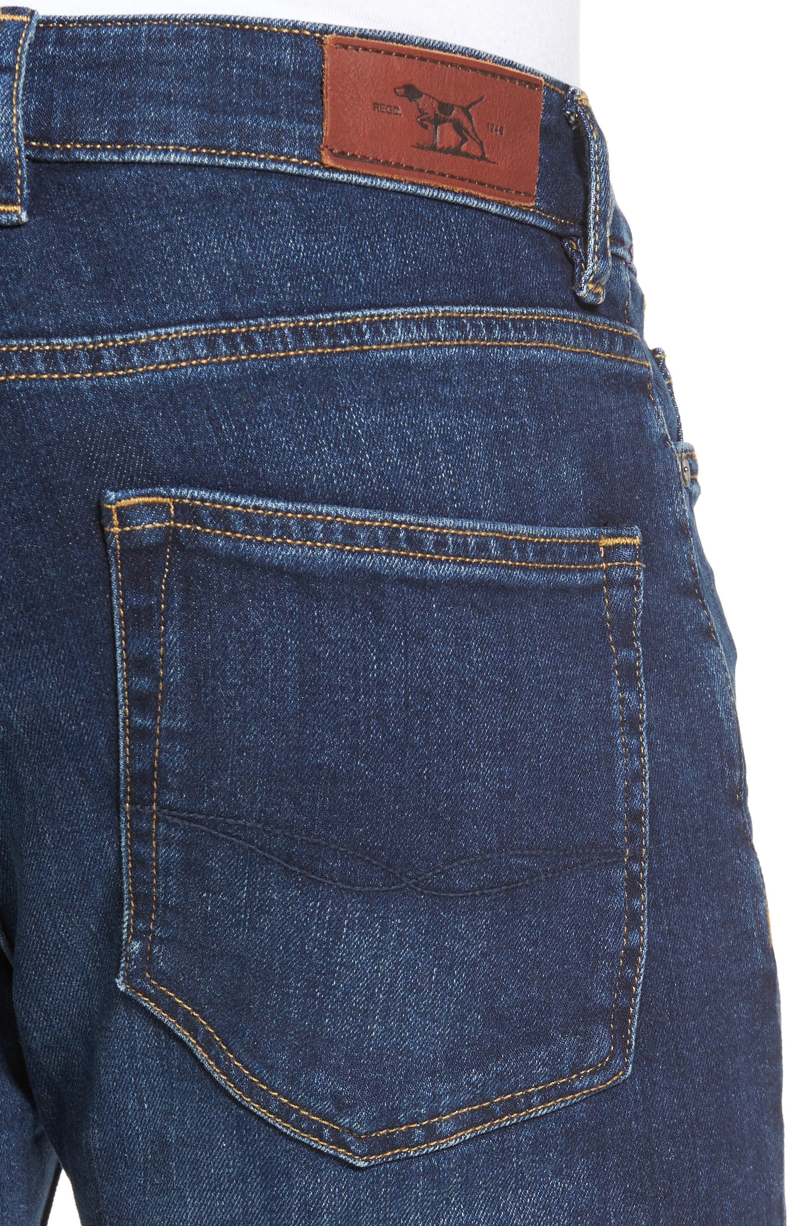 Derbyshire Slim Fit Jeans,                             Alternate thumbnail 4, color,                             DENIM