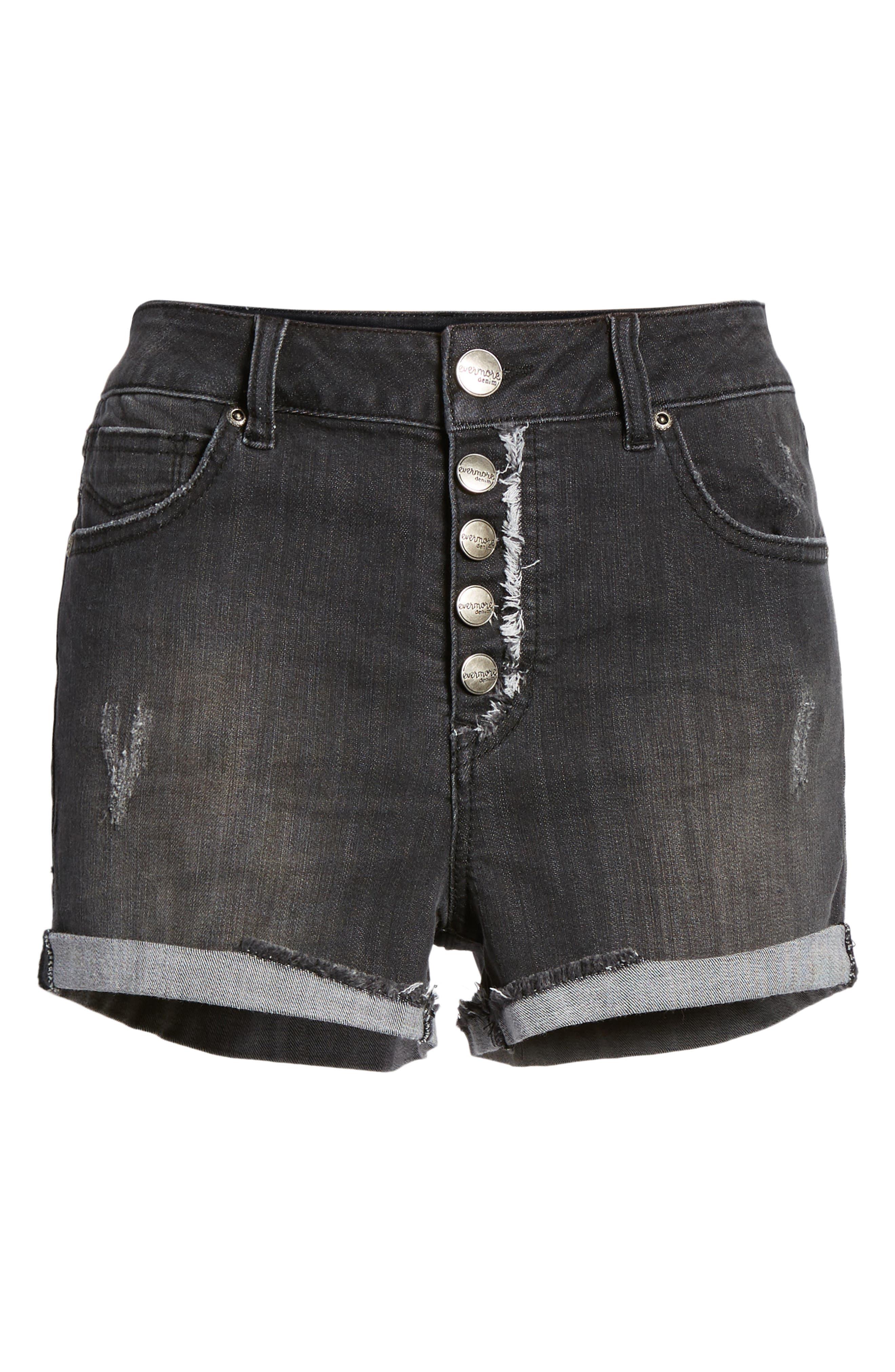 1822 DENIM,                             Cuffed Button Fly Denim Shorts,                             Alternate thumbnail 7, color,                             400