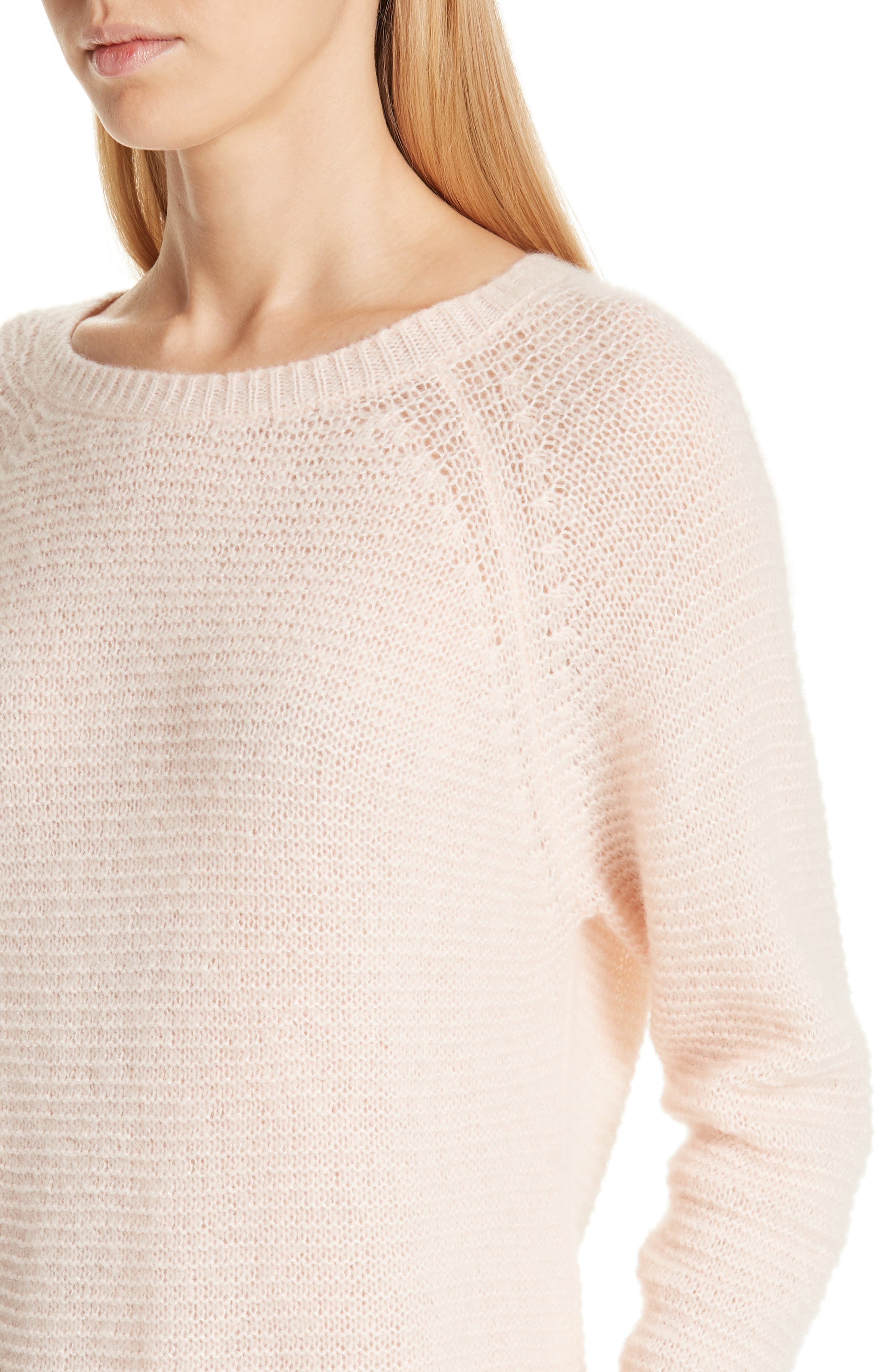 Osteo Cashmere & Silk Pullover,                             Alternate thumbnail 4, color,                             POWDER