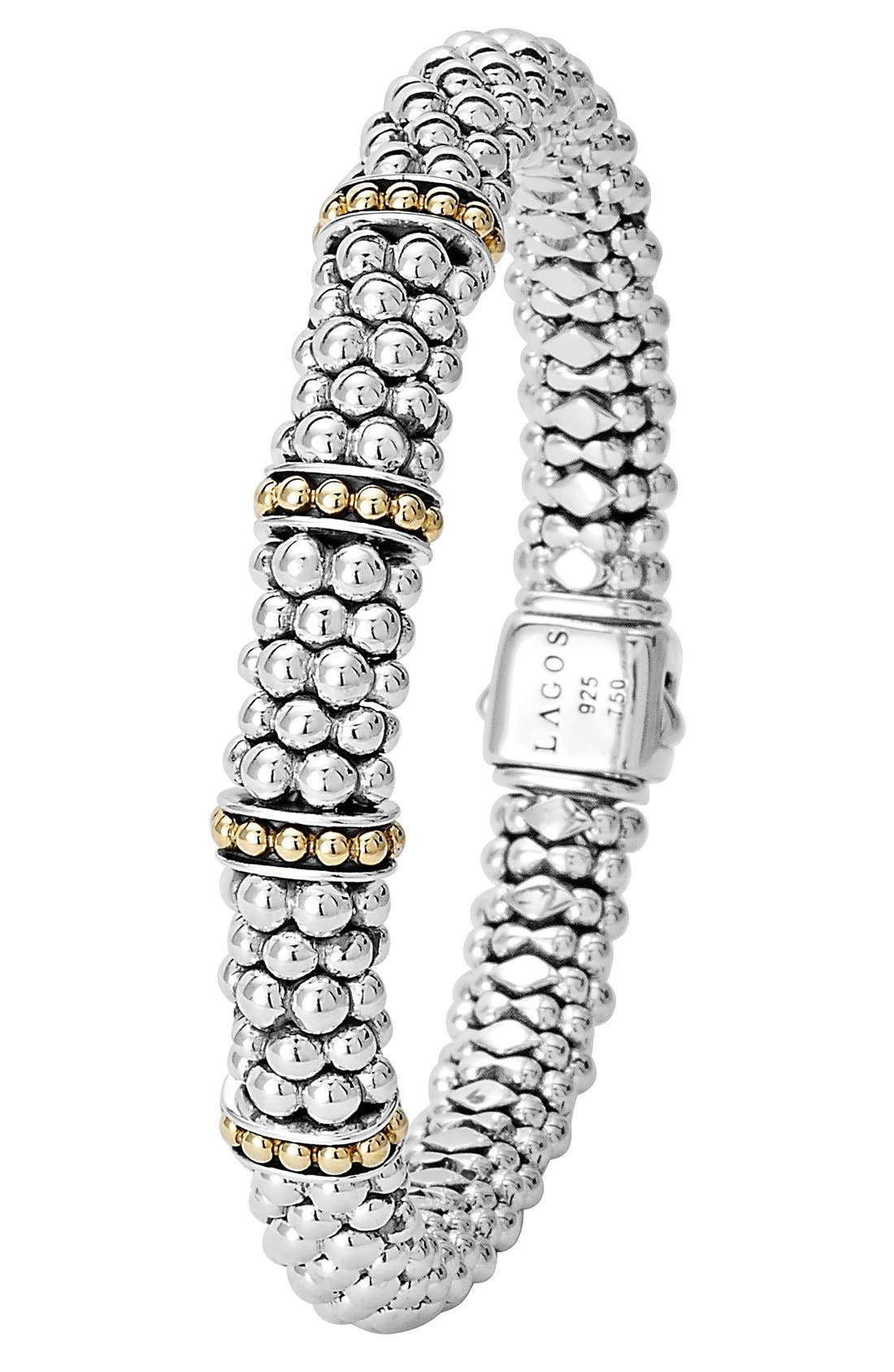 'Enso' Two-Tone Rope Caviar<sup>™</sup> Bracelet,                             Alternate thumbnail 5, color,                             SILVER/ GOLD